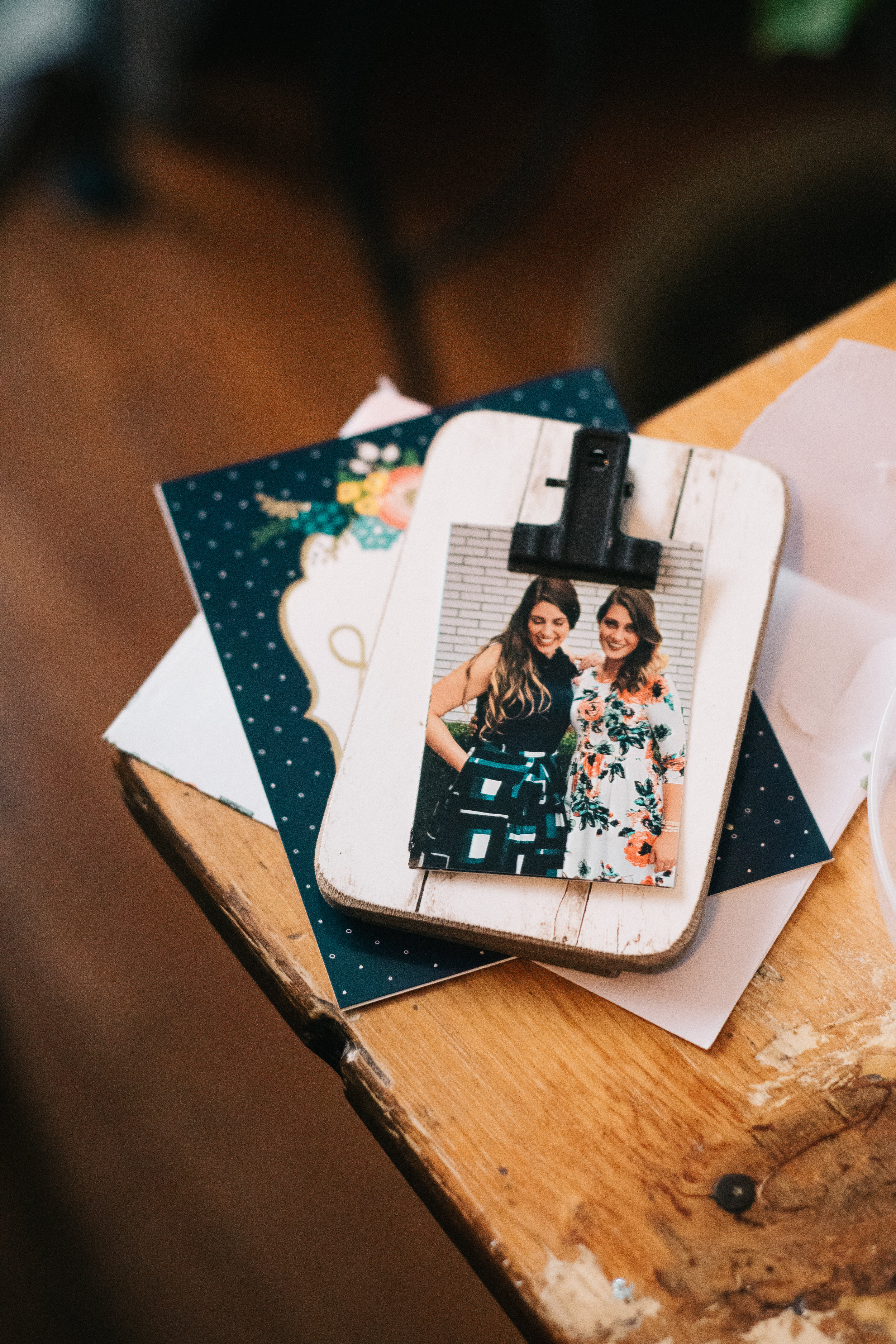 Personalized gifts for each of the bride's girls