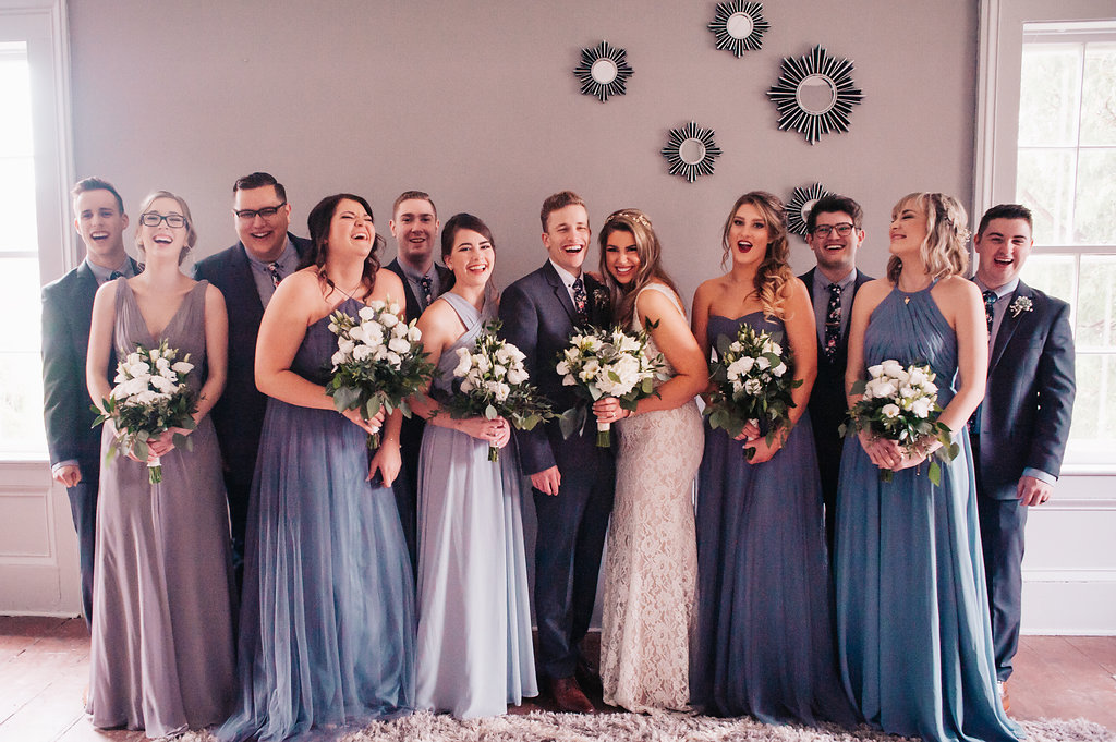 Jake and Paris' bridal squad!