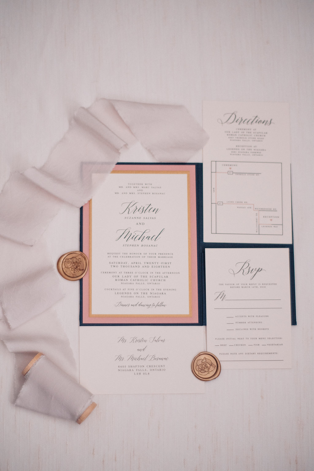 Wedding invitations by All That's Lovely