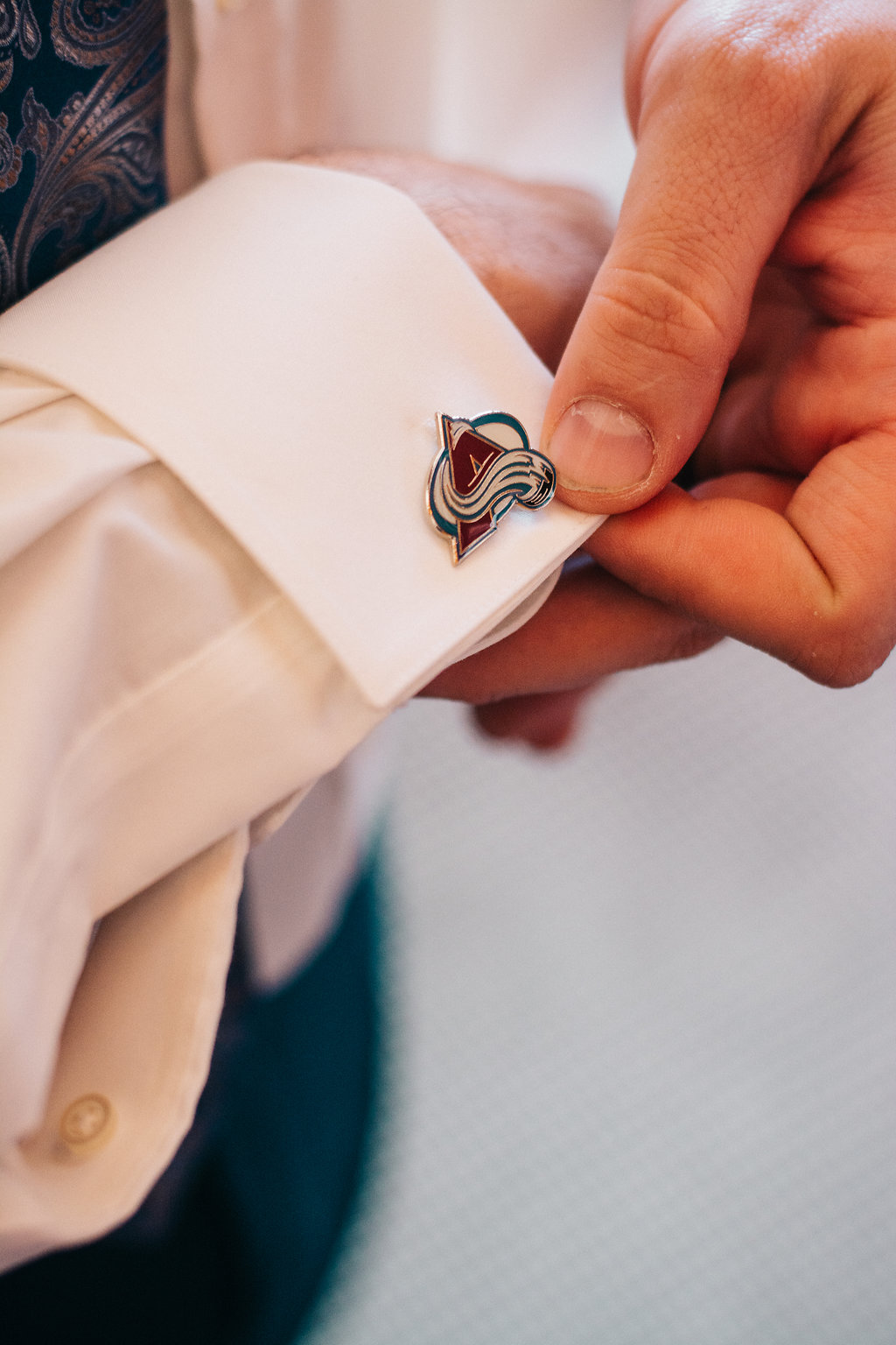 Being HUGE hockey fans, Mike made sure each of his boys were wearing their favourite team's cufflinks!