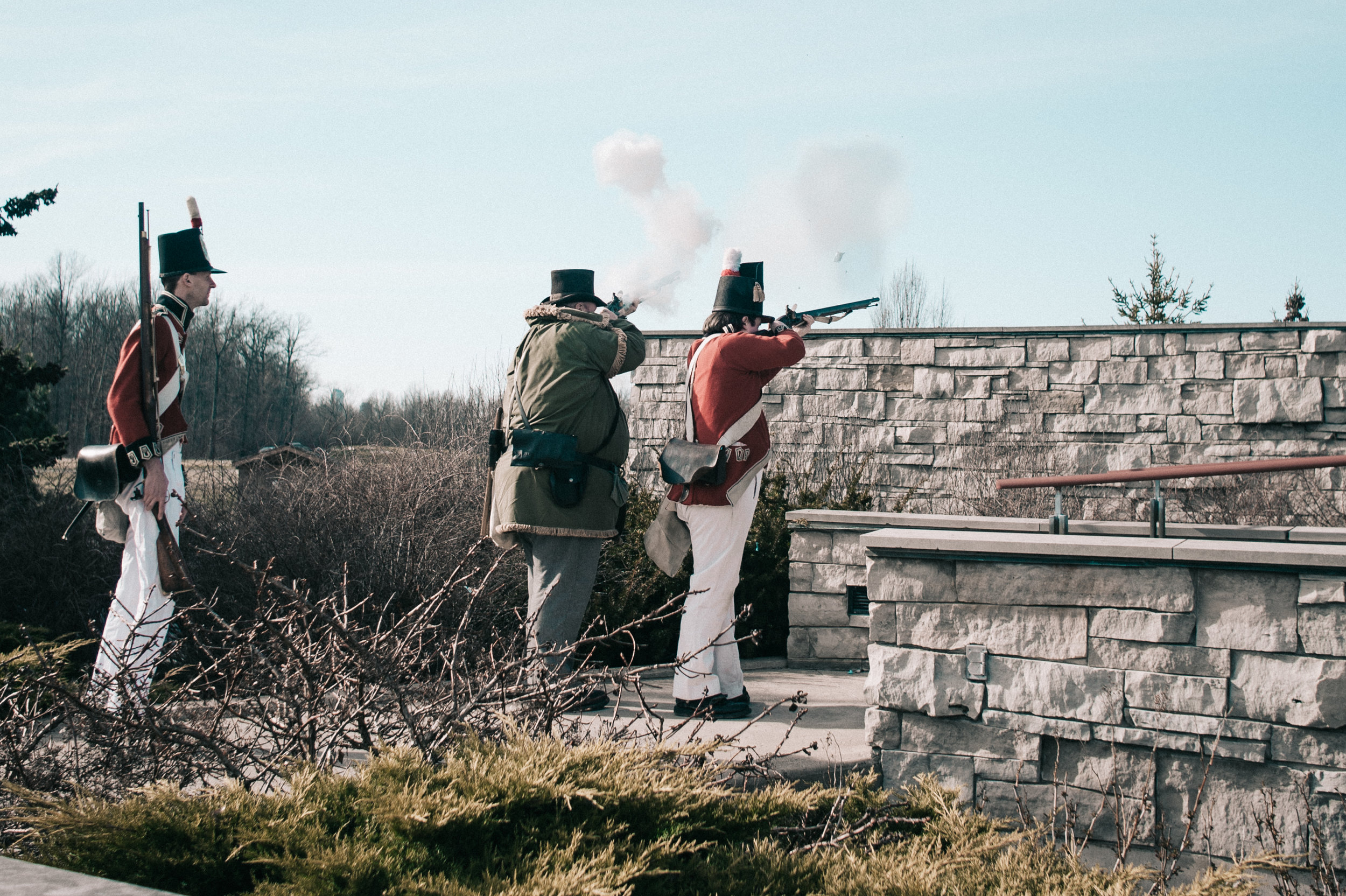 An authentic 1812 musket presentation to welcome the bride and groom!!