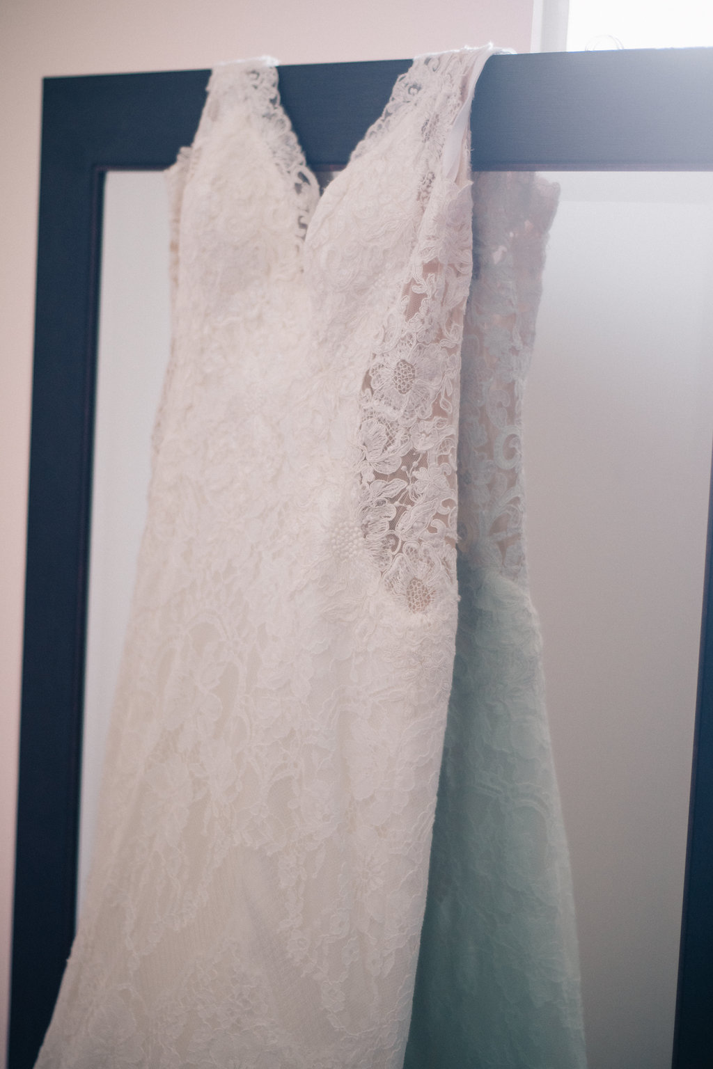 Amber-Lee's lacy mermaid gown by Allure Bridal
