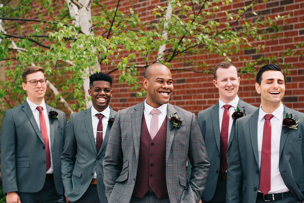 The groom and his boys