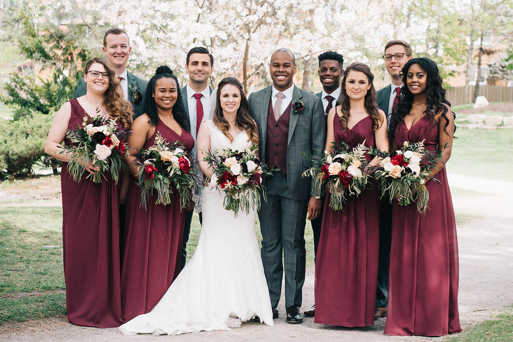The gorgeous bridal party!