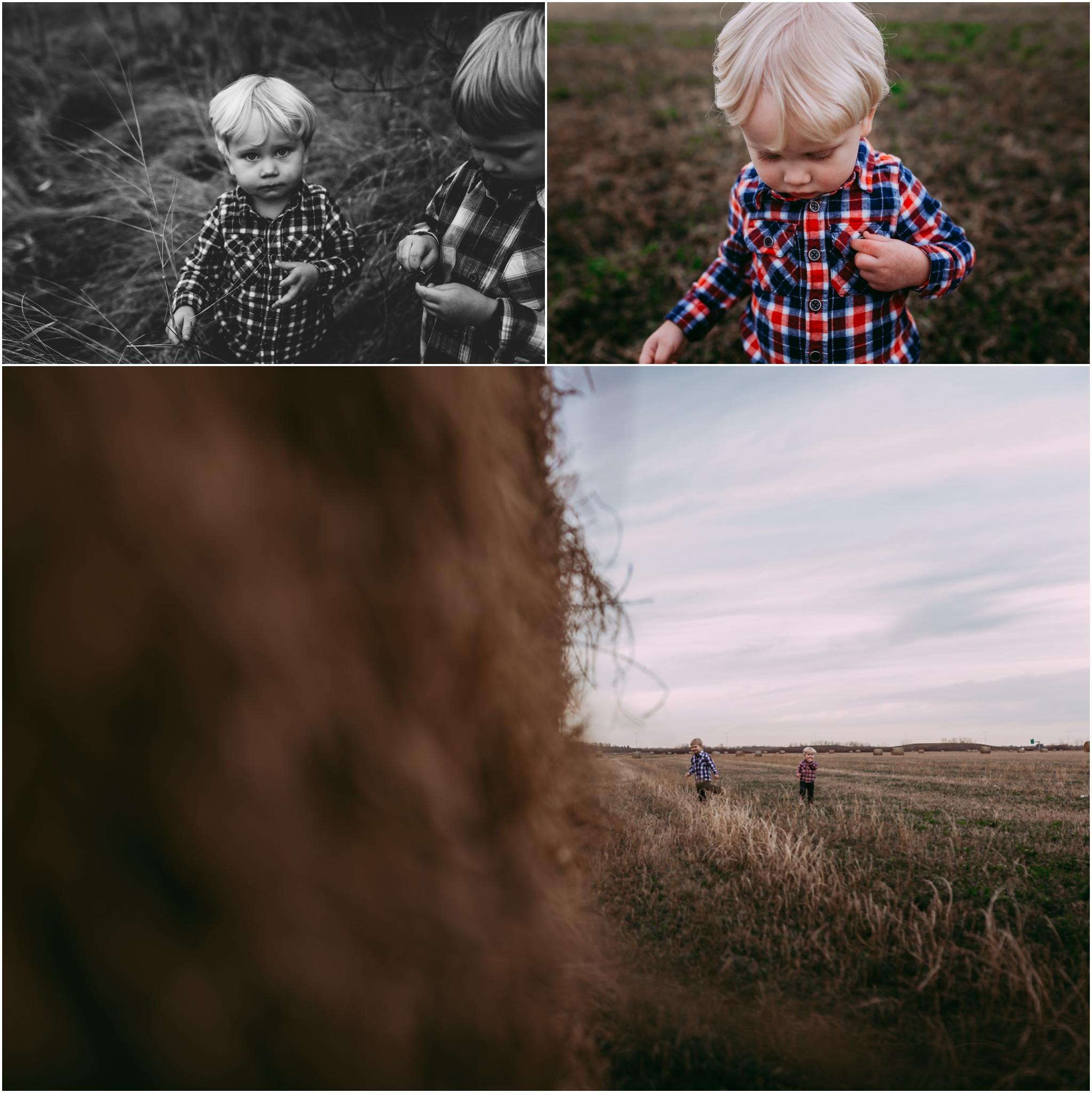 Edmonton lifestyle photographer Best of 2016 November hay bales