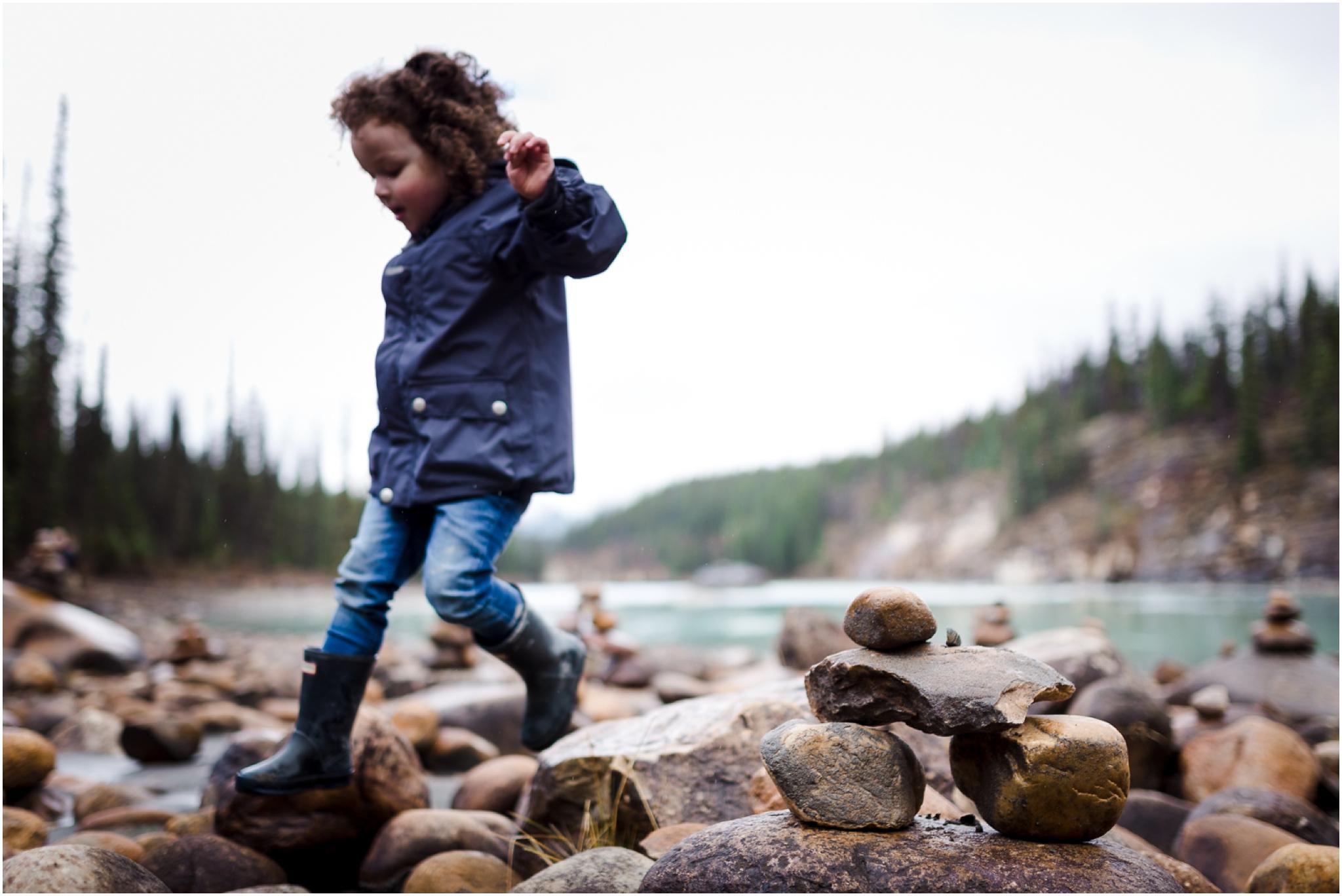 Edmonton Lifestyle Photographer - Best of 2016 - Jasper Alberta - Athabasca Falls - Inukshuk