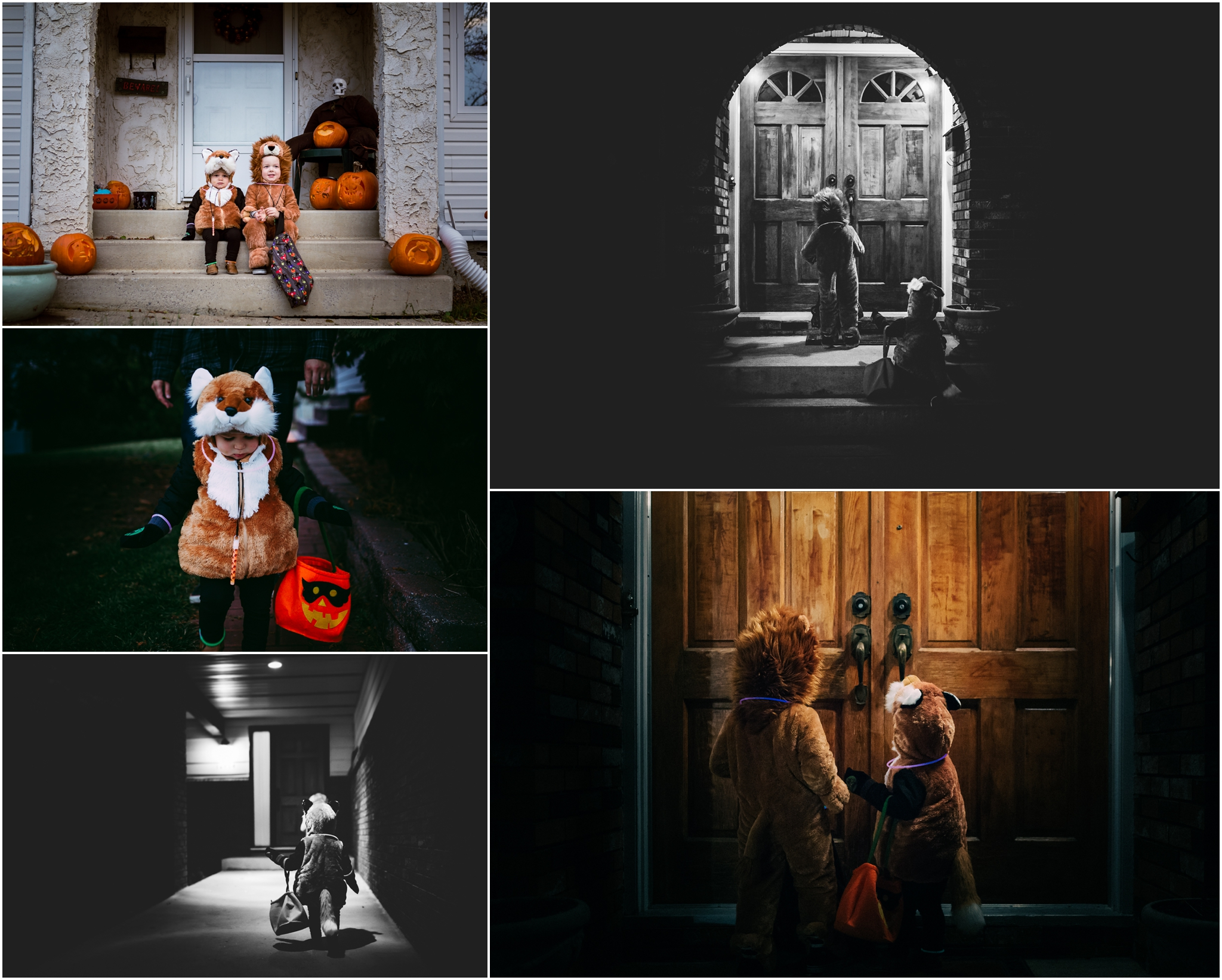 Edmonton Documentary Photographer - Best of 2016 - Halloween - Trick or Treat - Candy - Brothers - YEG - Costumes