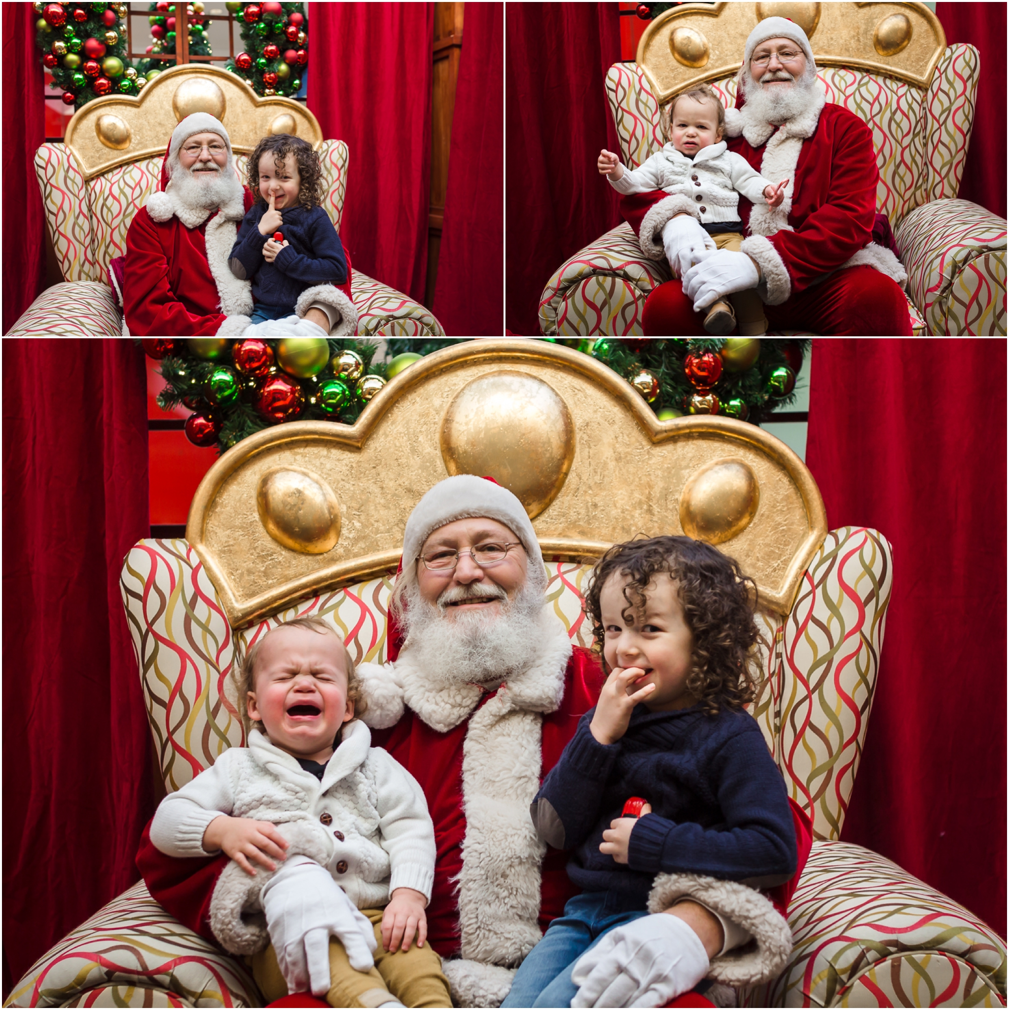Edmonton family photographer - Best of 2016 - Santa - Brothers - Christmas - Holidays - Mall Santa