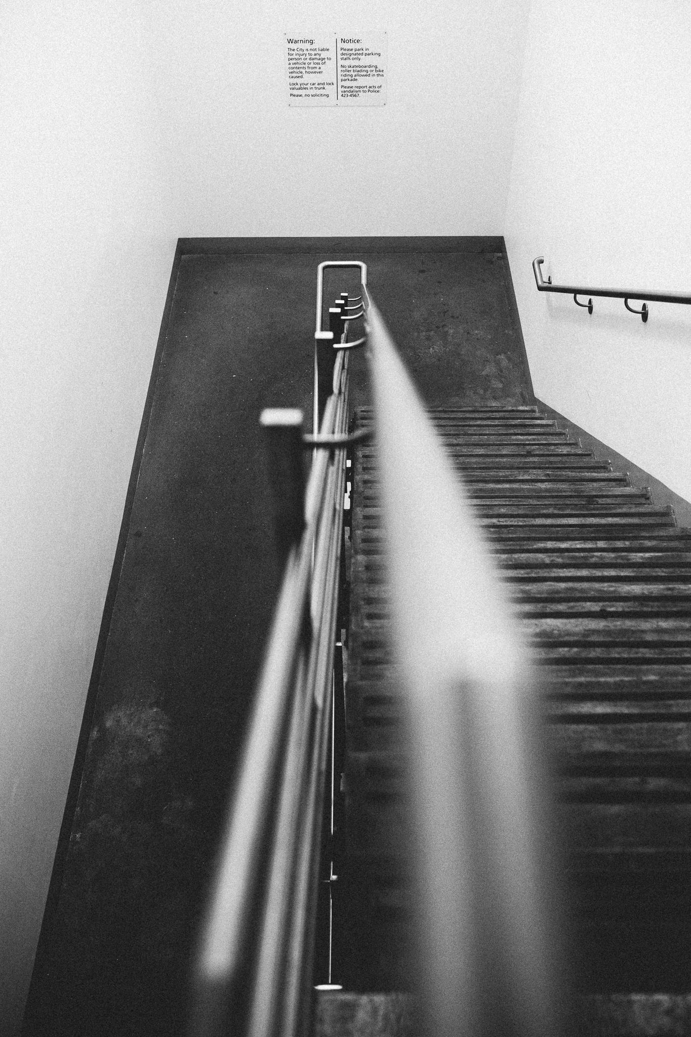 leading lines stairwell edmonton photographer