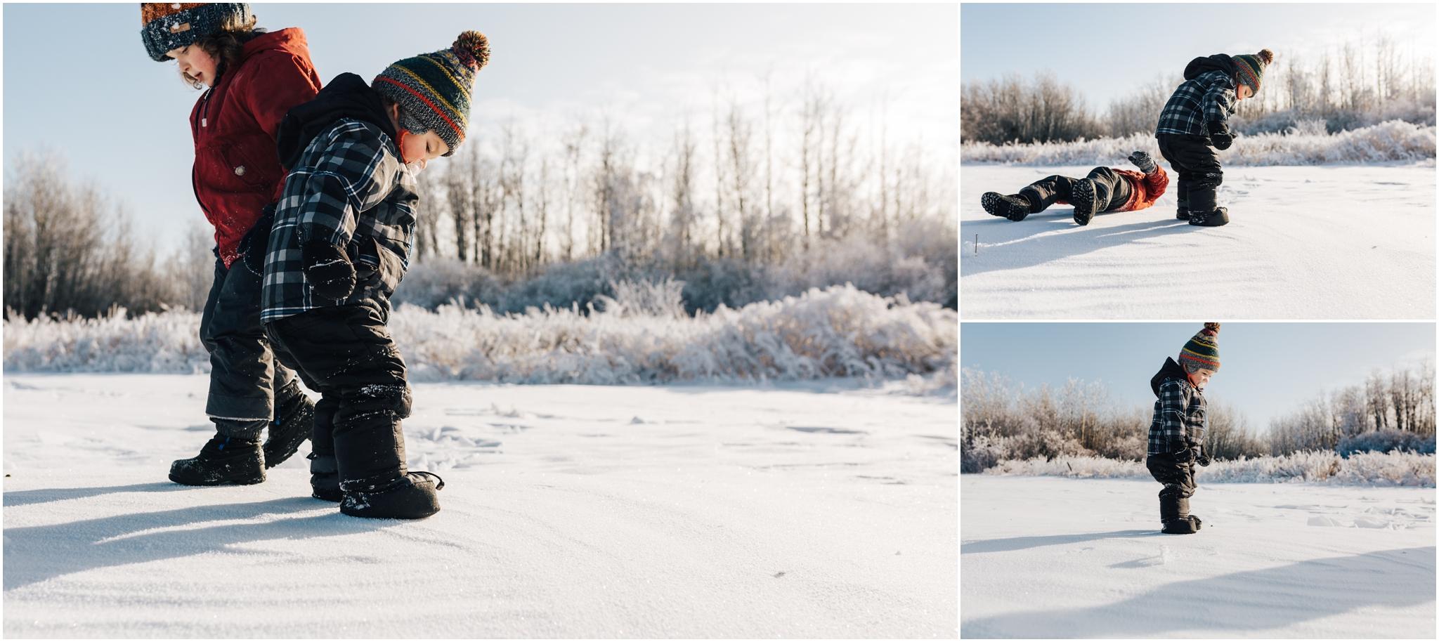 Treelines Photography - Edmonton Lifestyle Photographer - Snow Jumping