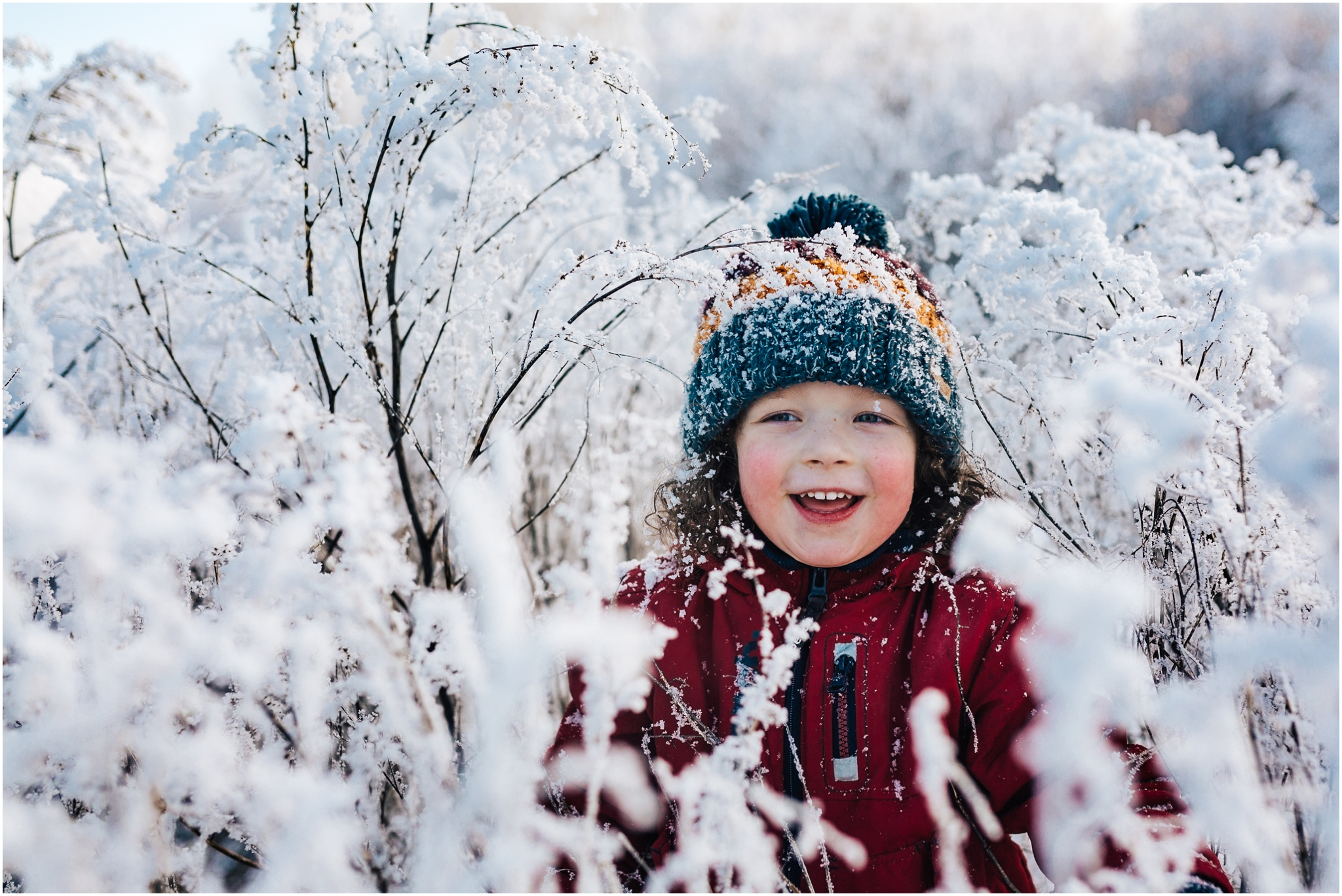 Treelines Photography - Edmonton Lifestyle Photographer - Edmonton Hoar Frost - January