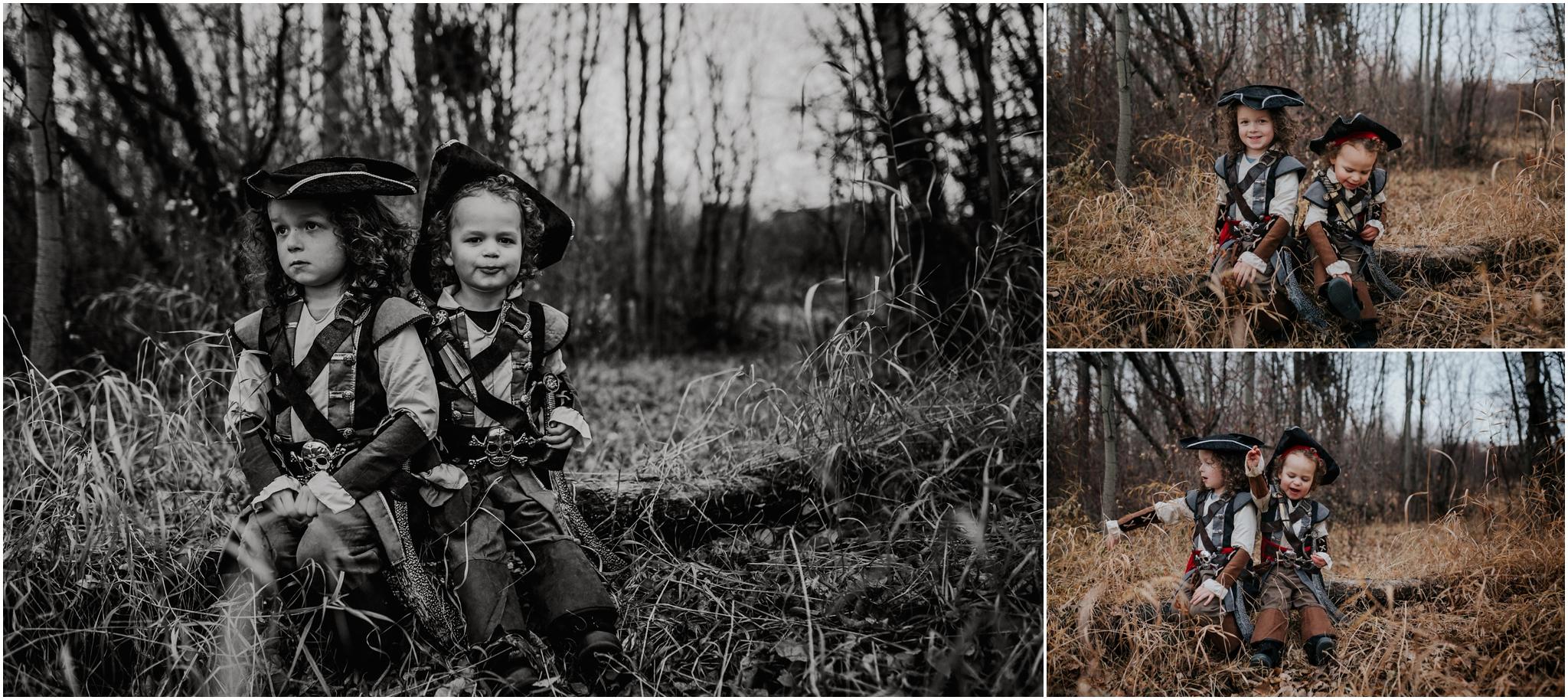 Edmonton Family Children Photographer - Halloween Pirate Costume