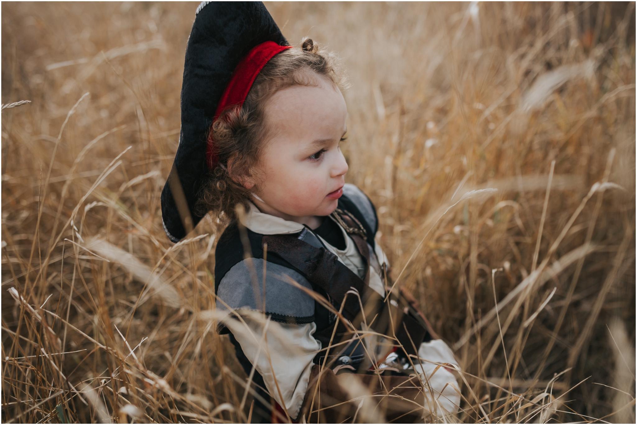 Edmonton Family Lifestyle Photographer - Fall Photography Session Autumn Halloween - Pirate costume