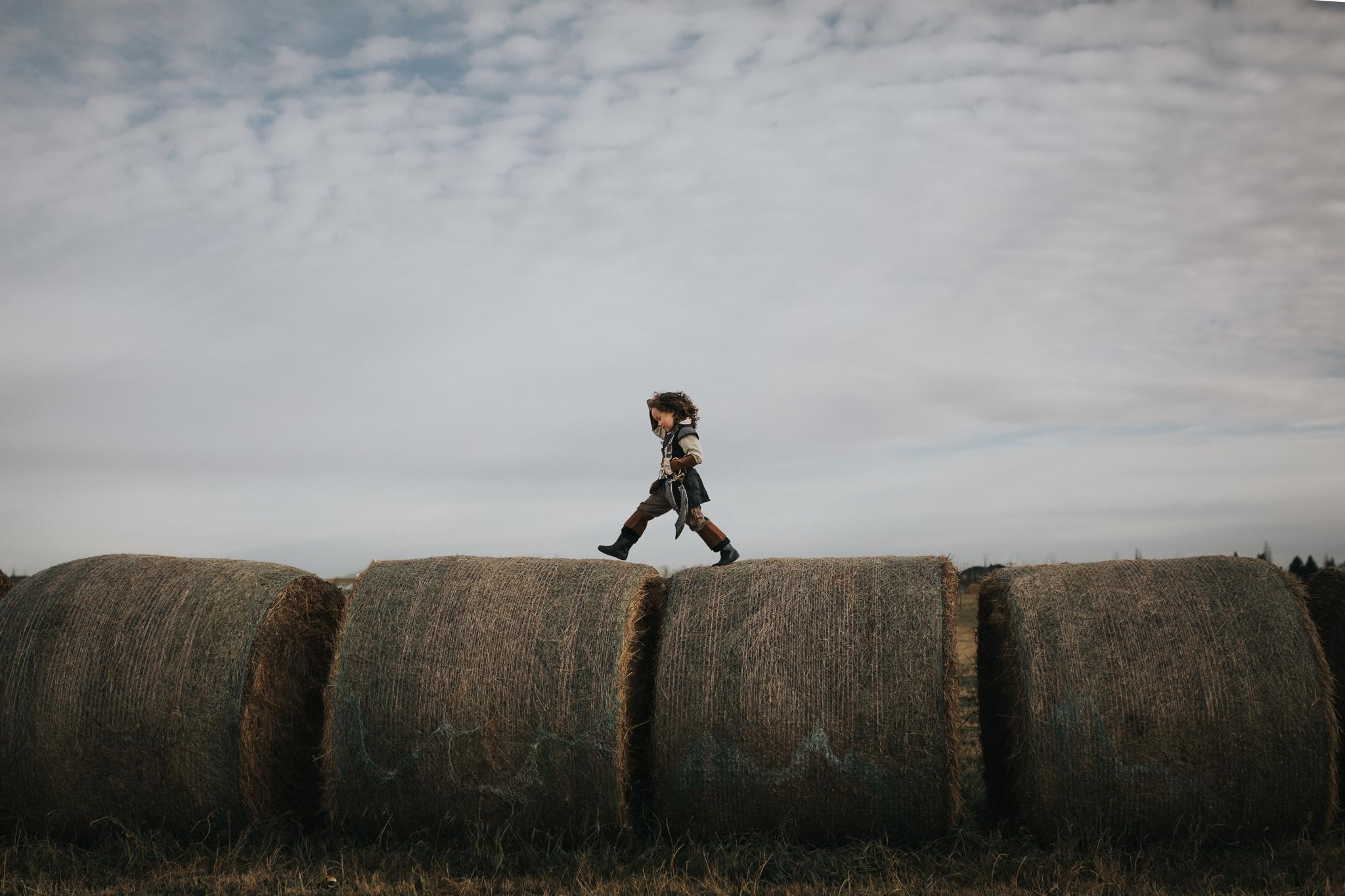 Edmonton Photographer - Adventure Session - Hay Bales