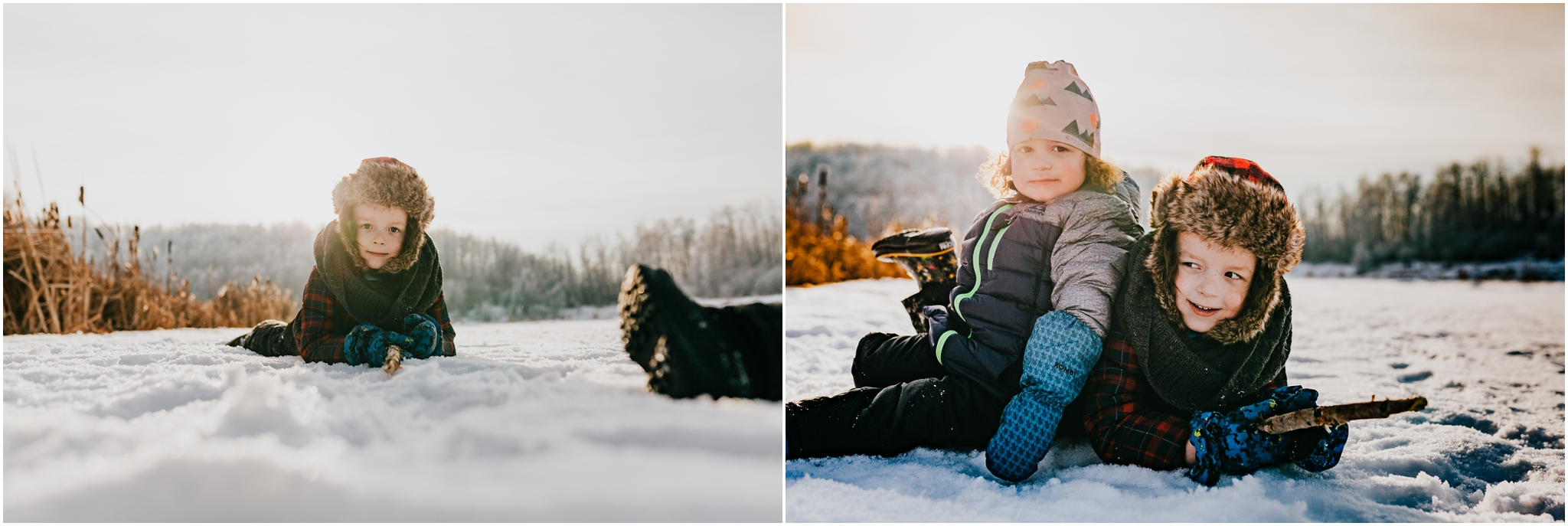 Edmonton Alberta family photographer - Winter photography Alberta Lake.jpg