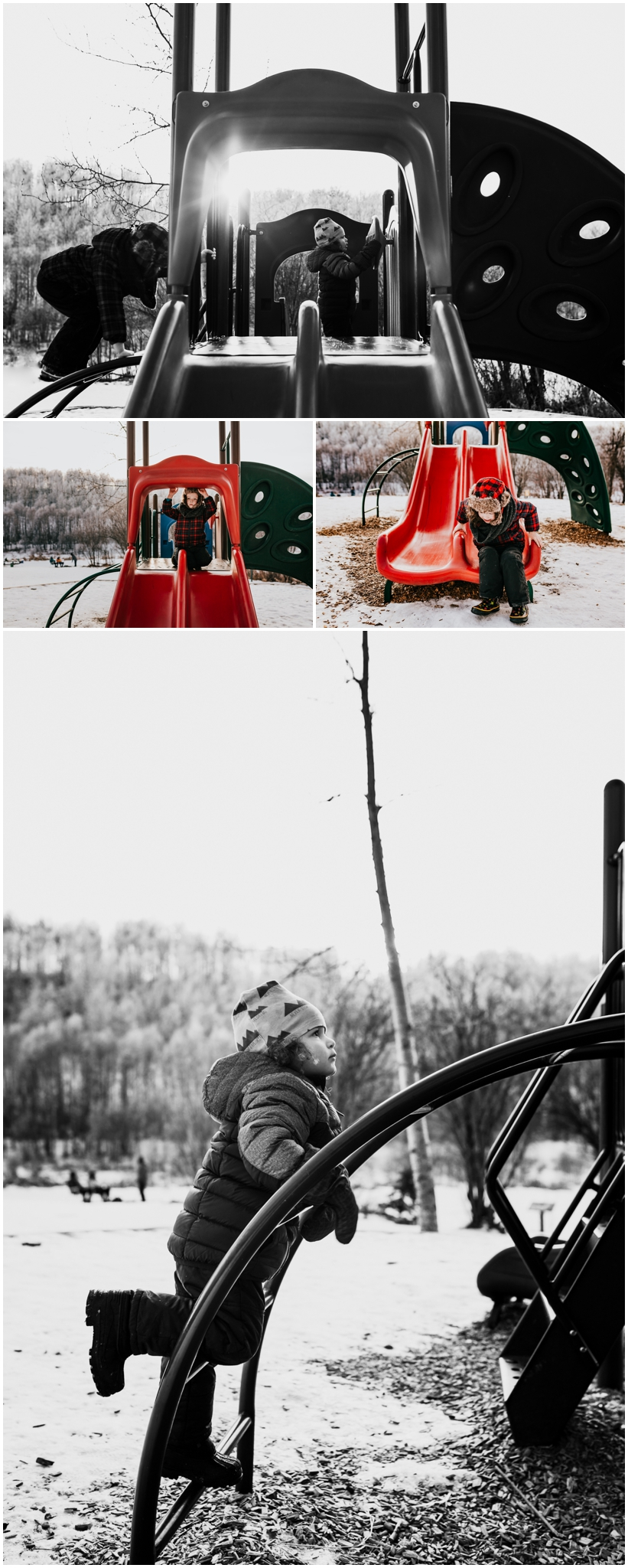 Edmonton Phogorapher - Kids at the playground - Lifestyle Photography - Camping playground