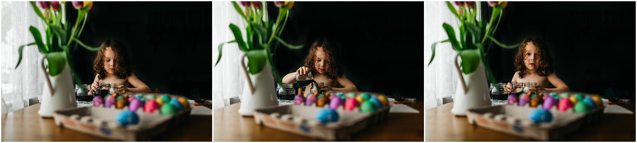 Easter Egg Painting - Edmonton Photographer - Edmonton Family Photographer -  Easter Eggs - Easter 2018 - Crayons on Easter Eggs - Edmonton Documentary Photographer - Family Photography - Documentary Photography - Edmonton Documentary Photographer - Edmonton Lifestyle Photography