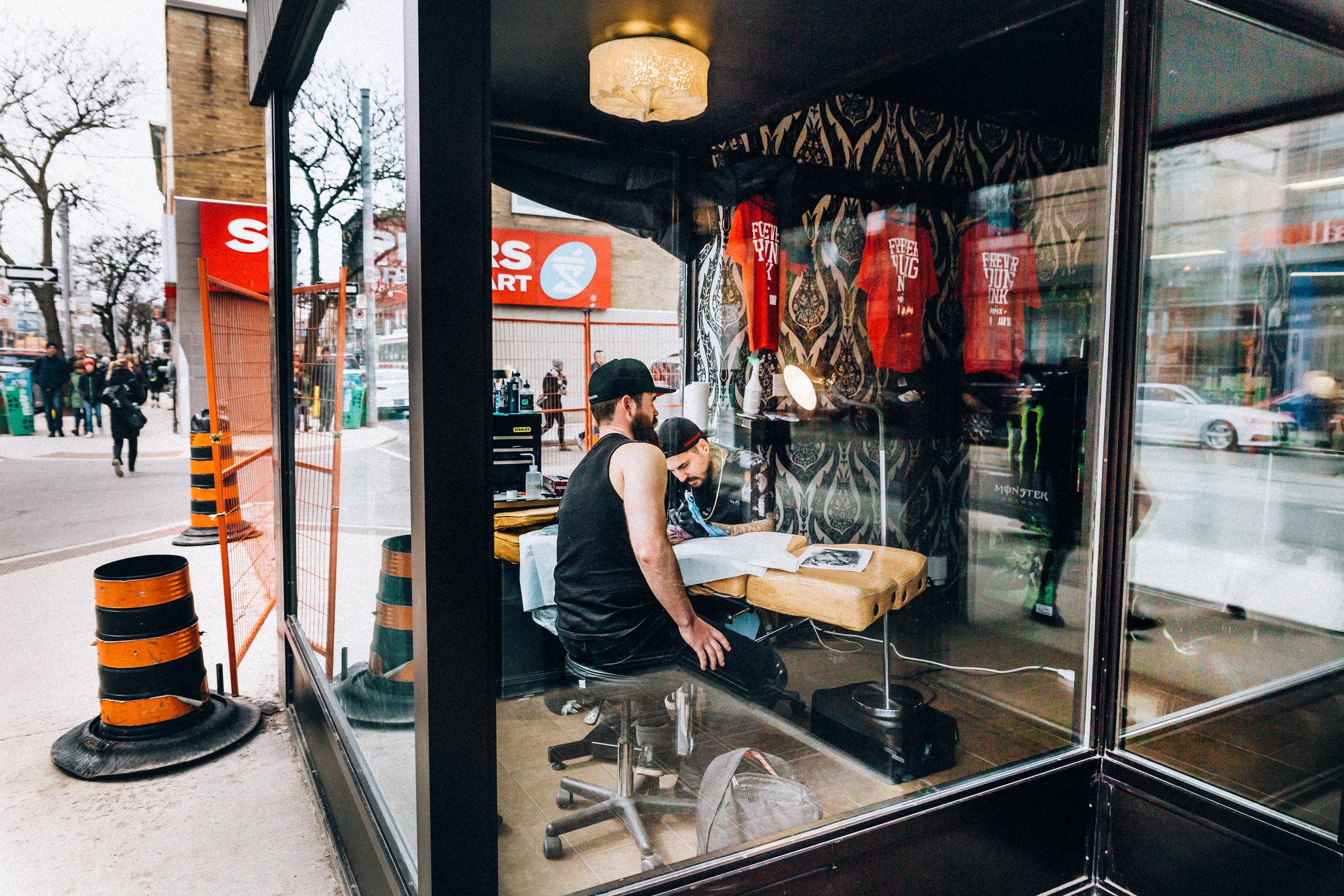 Get a tatoo in Toronto