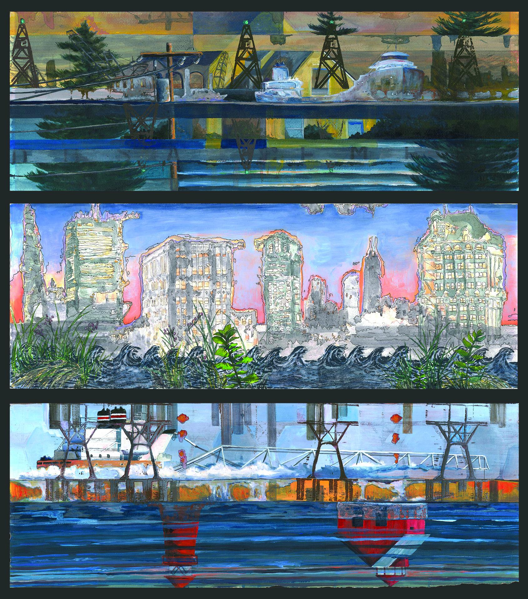Mirage Dream #2, 3, 4 (Triptych)