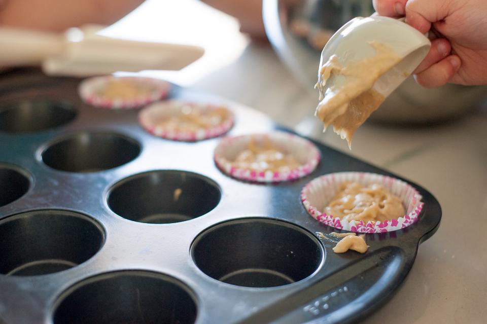 muffins in baking pan