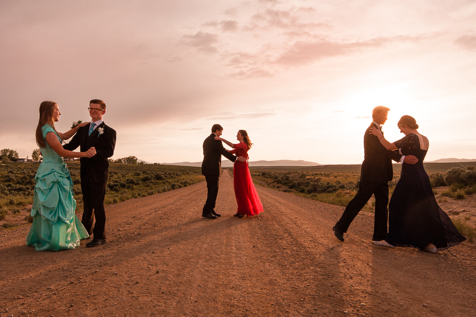 couples dancing on a road