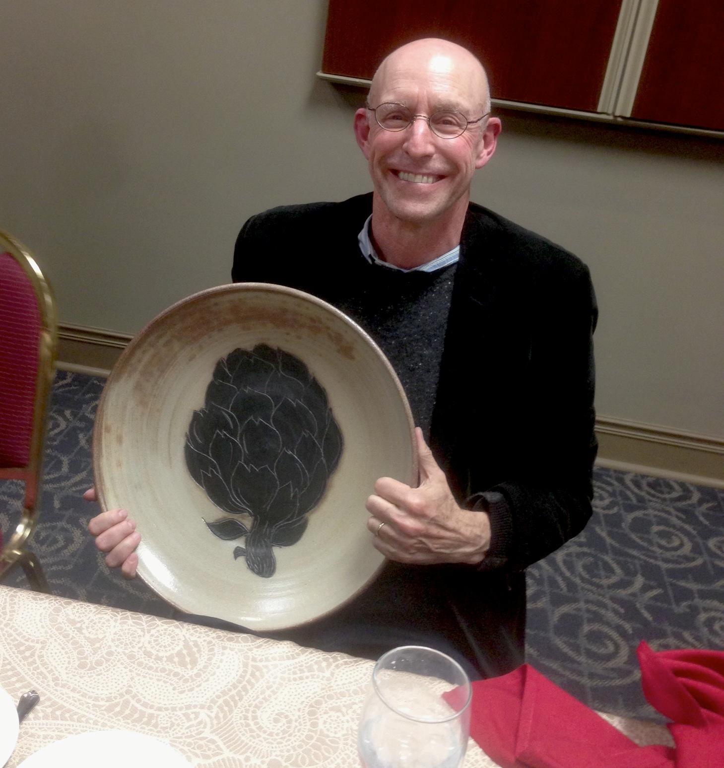 Michael Pollan receiving the Gift of Food at University of Dayton