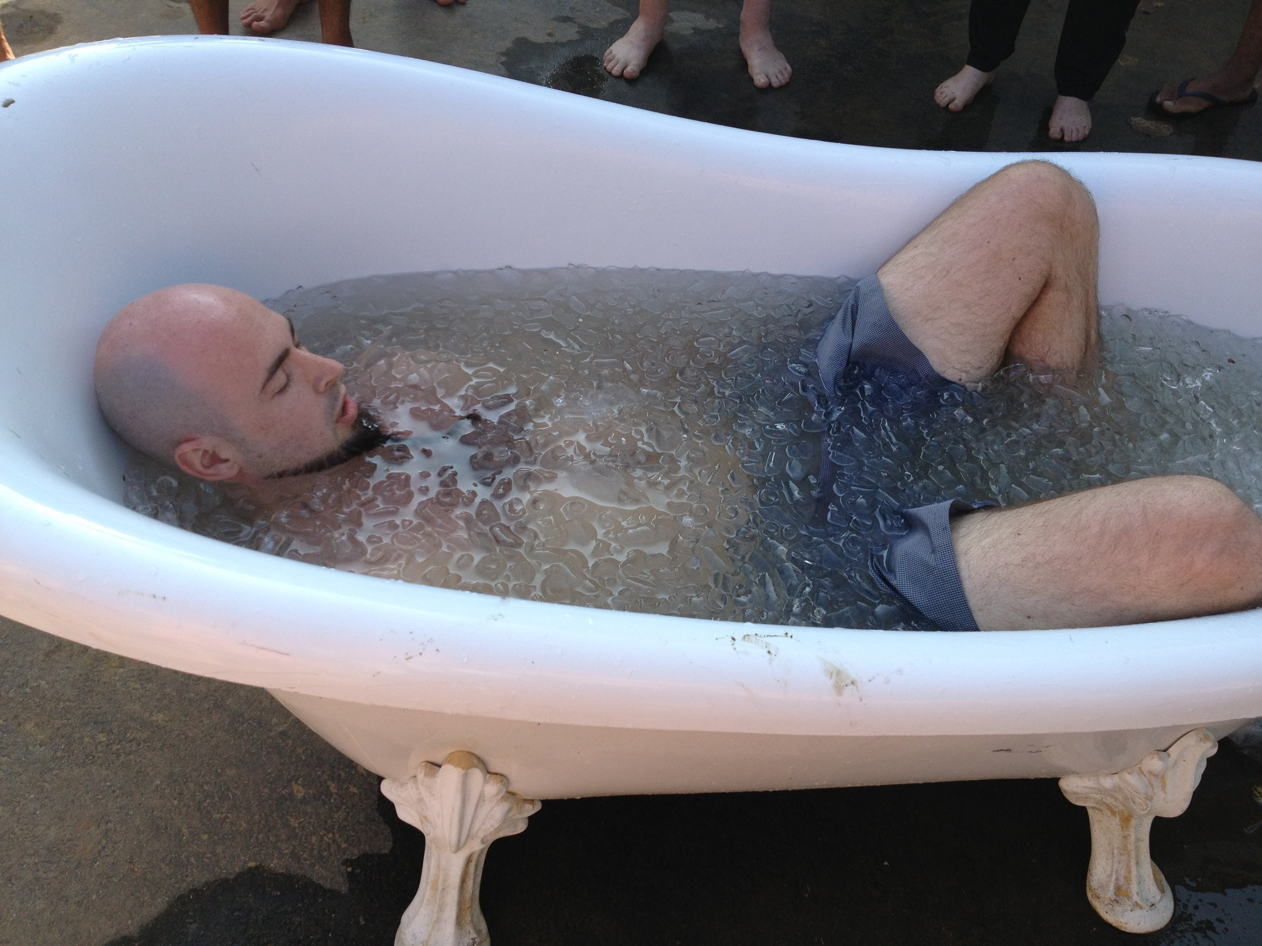 Relaxing into an Ice Bath
