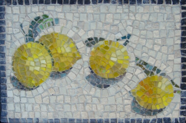 Limoni mosaic - stone and smalti glass