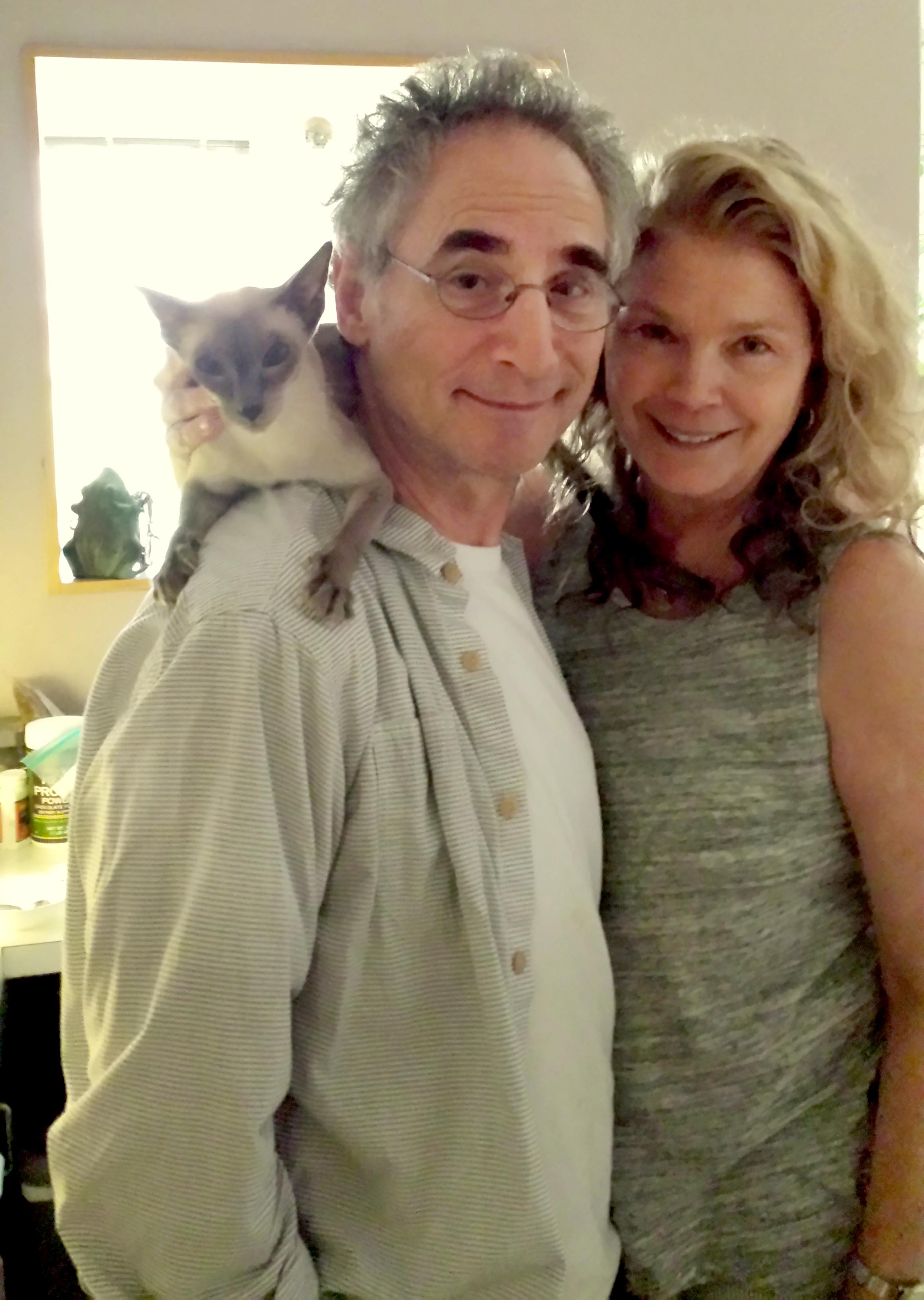 With Rebecca Nelson and Miko.