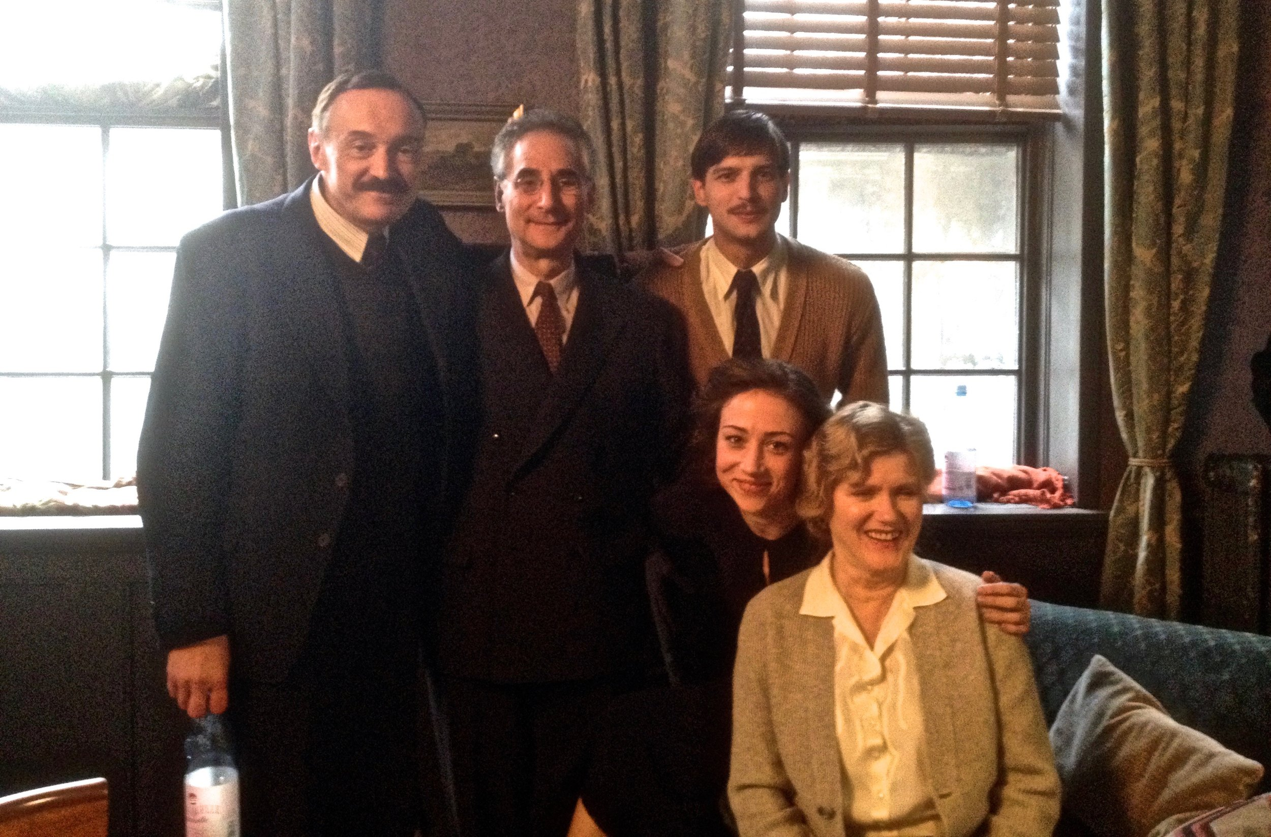 With the cast and director from STEFAN ZWEIG; AFAREWELL TO EUROPE made in Germany.