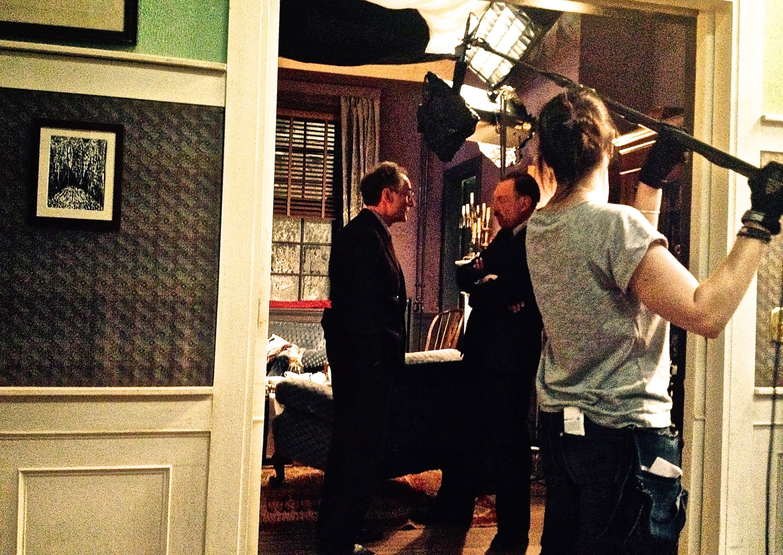 Shooting scene with Josef Hader from STEFAN ZWEIG: FAREWELL TO EUROPE, Halle, Germany