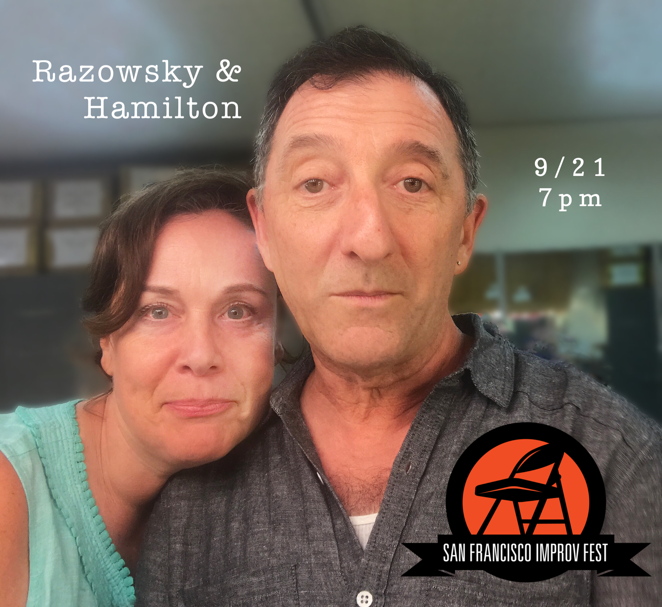 Razowsky & Hamilton's David Razowsky and Rachel Hamilton are both alumni of The Second City Mainstage and renowned teachers of Improvisation.  In fact, if you added up the combined hours they have spent performing and teaching Improv and then assigned a tangible unit to represent each hour – let's say a lemon – and then you lined up those lemons, well, let's just say you would have a whole lot of lemons on your hands. Now, if you wanted to go the extra mile and see how many times those lemons could circle the earth, you sure would have a helluva time because they would keep rolling away, being round(ish) and all.  And while you are doing all that, David and Rachel are going to improvise a show and get a couple more lemons for your project.   Featured Cast: David Razowsky & Rachel Hamilton   SHOWTIME: Friday, September 21st, 7:00PM with  The Trifecta