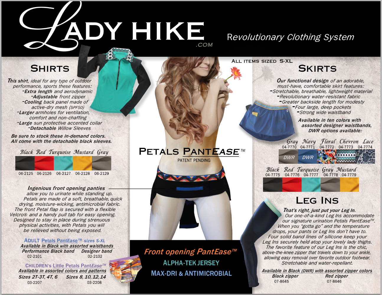 Look for Lady Hike Products in stores Spring 2017.