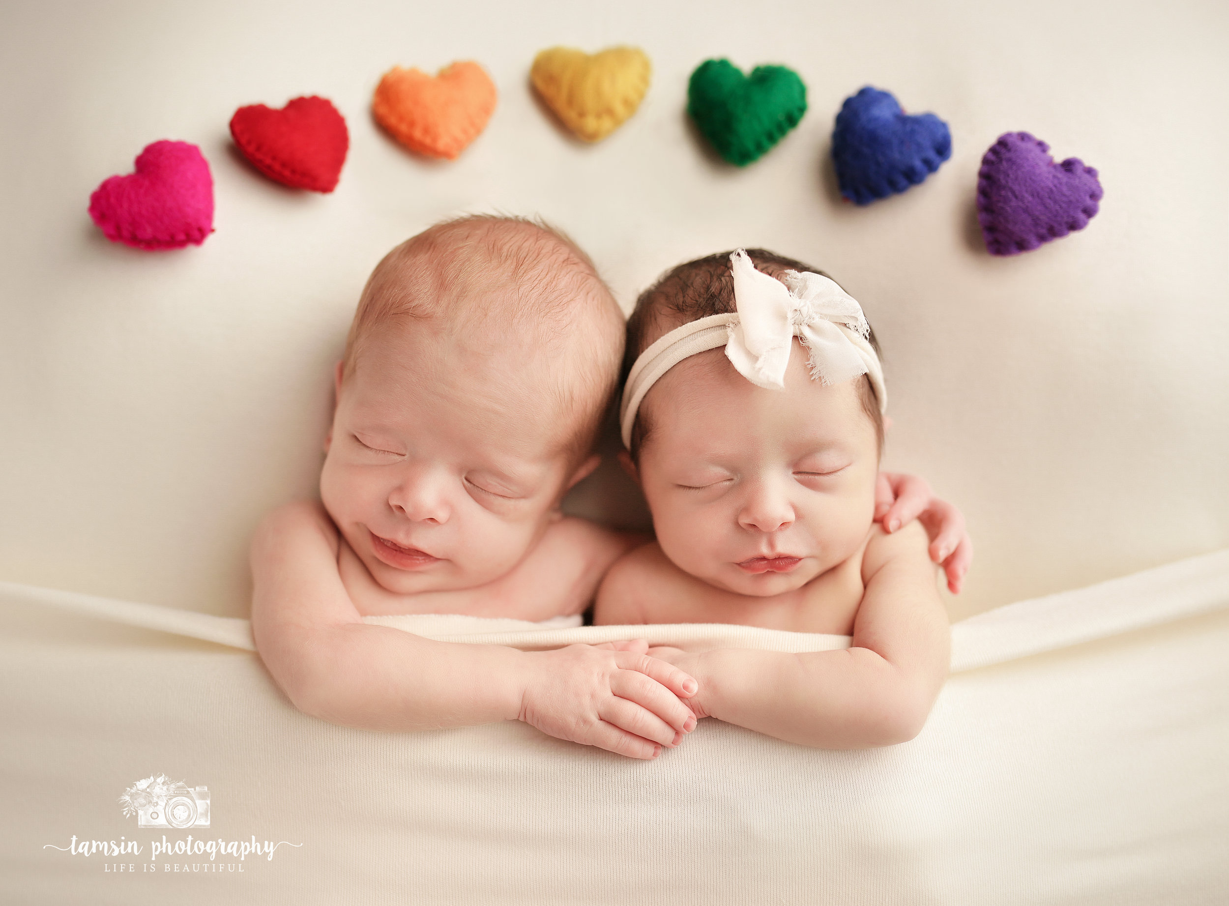 Newborn IVF Twins Rainbow Babies Portrait Tamsin Photography.jpg