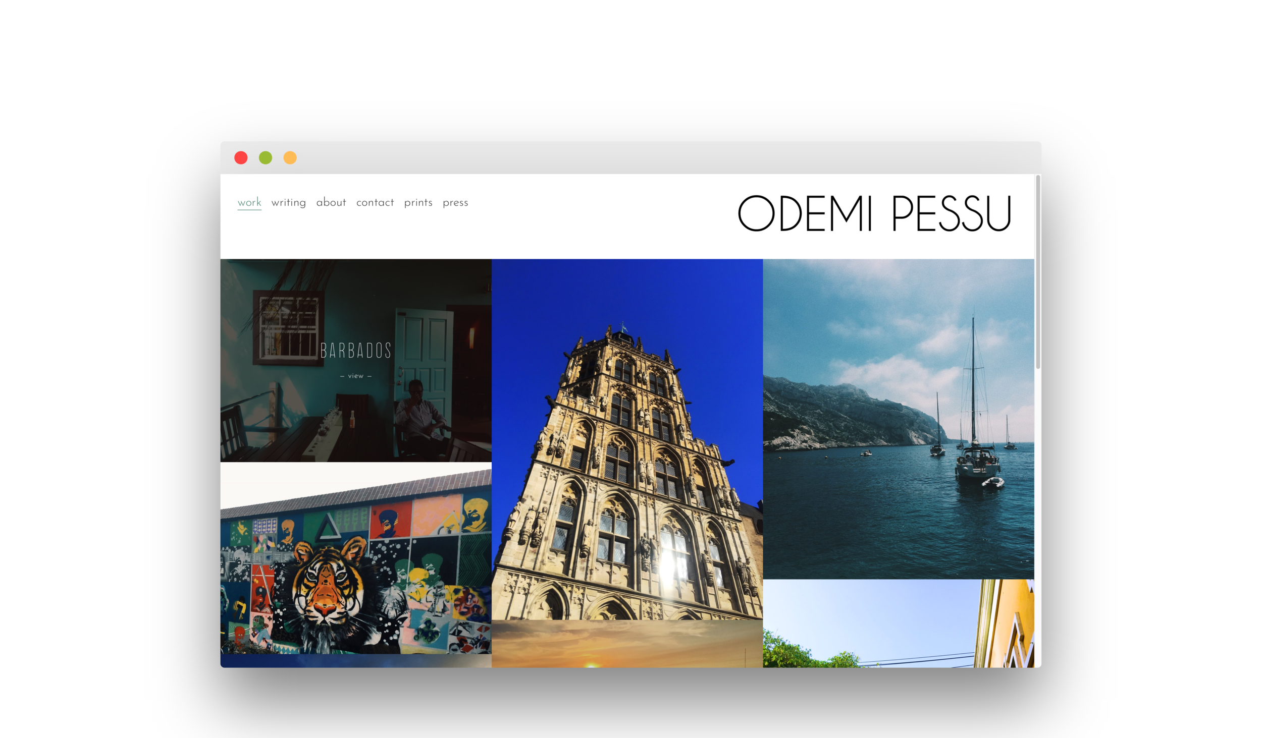 odemi pessu portfolio + creative scholar profile