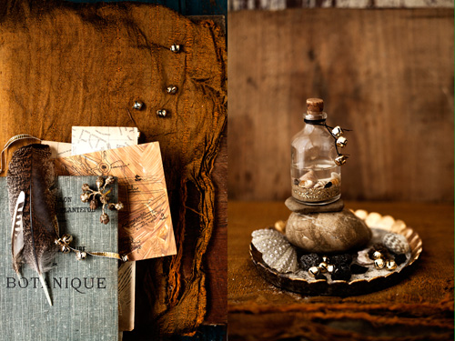 """1. """"let me take you for a walk through my favourite neighbourhood"""": hand drawn map of Amsterdam (which I made a few years ago for my   Amsterdam: Made By Hand   tour, antique French book from our bookshelf, gold fabric from  Major & Tom . 2. """"a wander on the beach"""": Bottle from  Major & Tom , as well as gold scalloped dish, made by beautiful  Bridget Bodenham .  .............................................."""