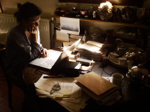 ... Amsterdam , 2010, writing the manuscript for  My Heart Wanders   ....................................................................
