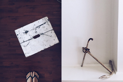 Two ESSENTIALS that I had to claim for the new space from  Drunk on the Moon , my go-to vintage treasure stop in Newtown: an artist's stool and an anchor. The significance of the anchor will be explained in time :)