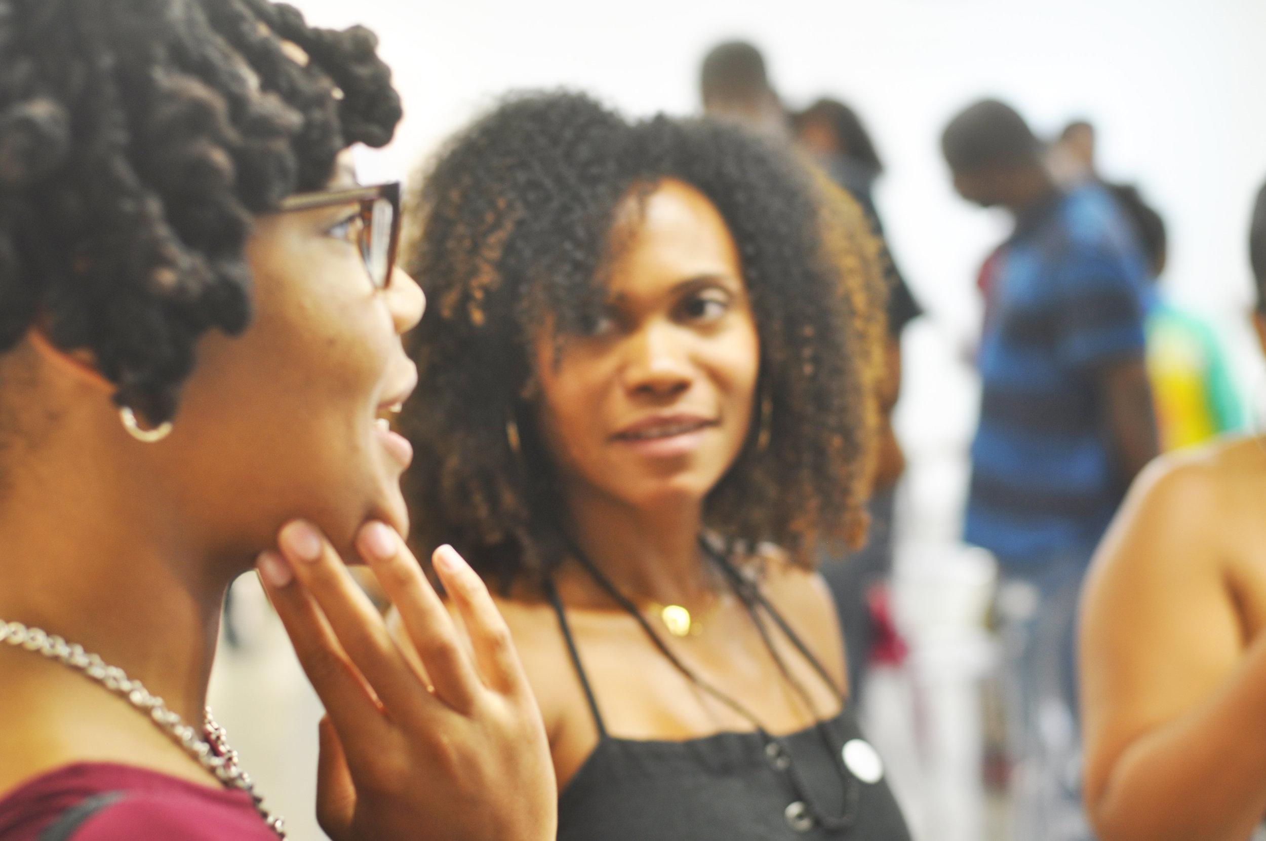 Lindsey Grant, Educator, & Karla Ferguson, Owner & Director - Yeelen Gallery Image by Stefan Grant