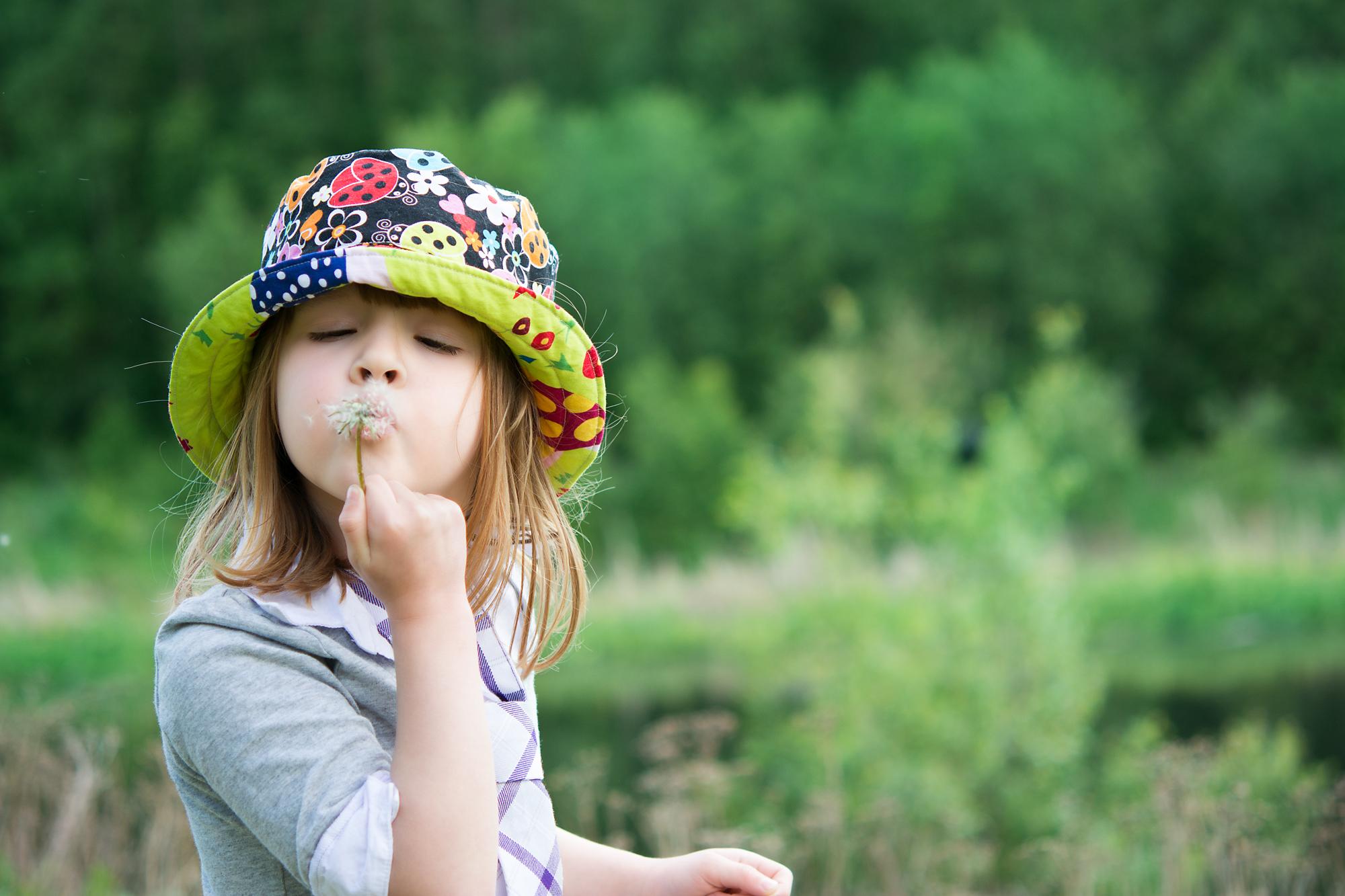 child portrait - making wishes
