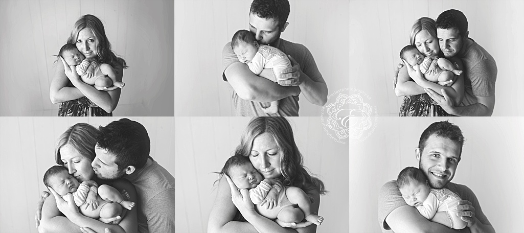 Edmonton newborn photographer parent poses