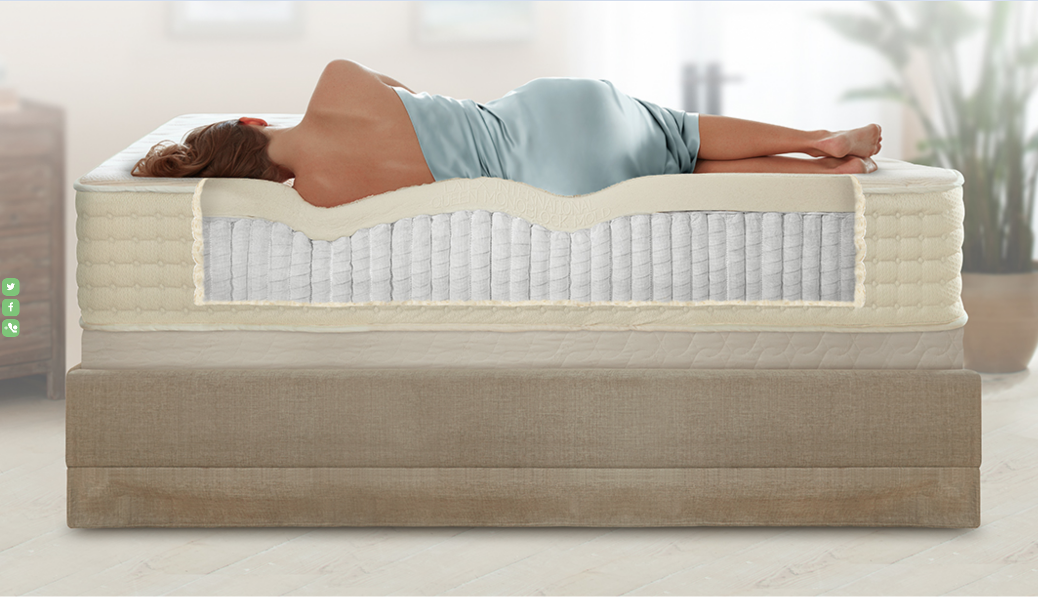 PlushBeds Organic Latex Mattresses - I came across this company, after weeks of research, when my aching back demanded I retire my old mattress. Organic andallergen-free latex? Check! One hundred night trial period? Check! Pick-up and return/exchange guarantee? Check! I quickly decided there was nothing to lose by trying it out. WOW! Most comfortable bed ever! Over the years I have added their queen,a sofa sleeper and two twins. Good luck getting your guests to leave;)Get your PlushBed here!