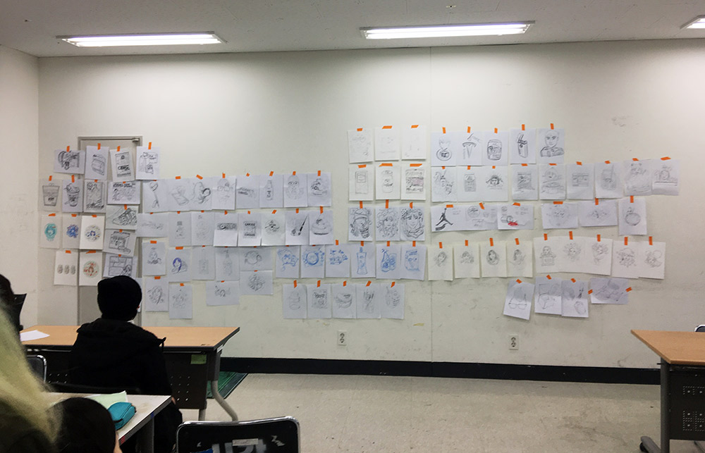 at Seoul Tech - Sketch Wall Critique