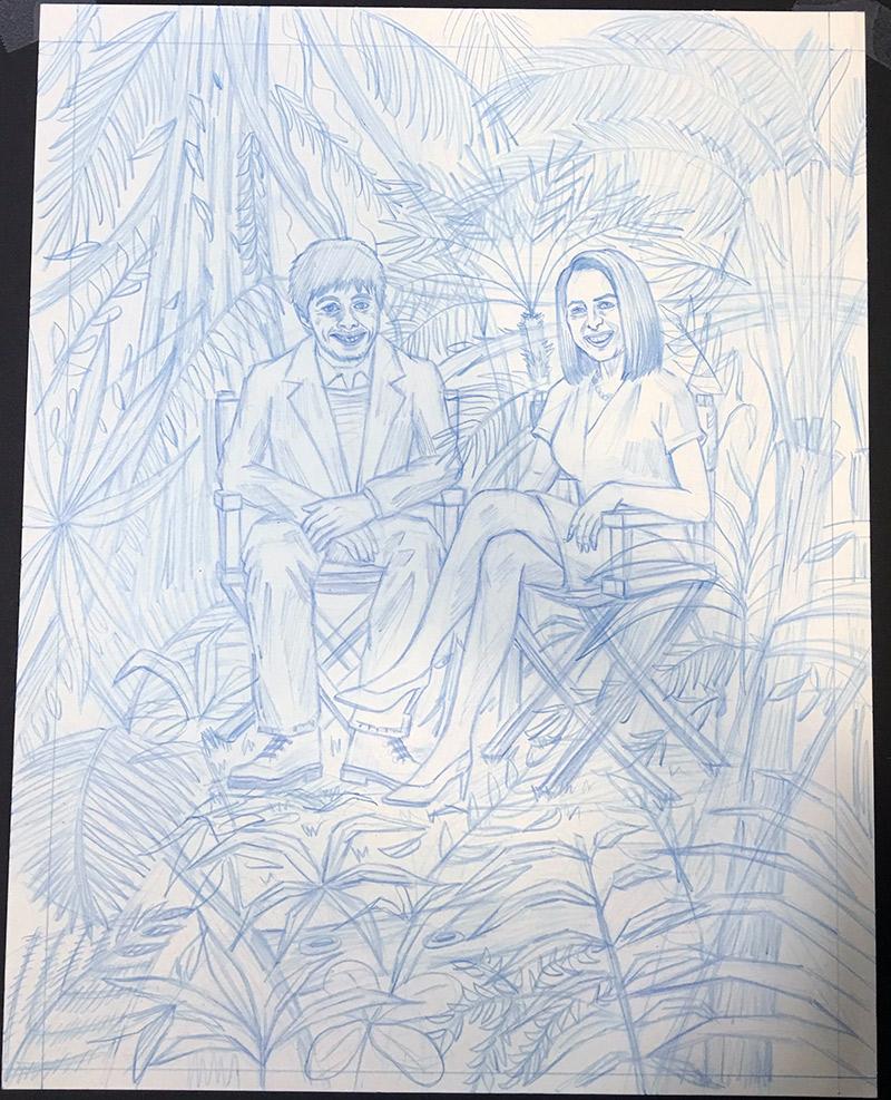 Final blue pencil sketch!