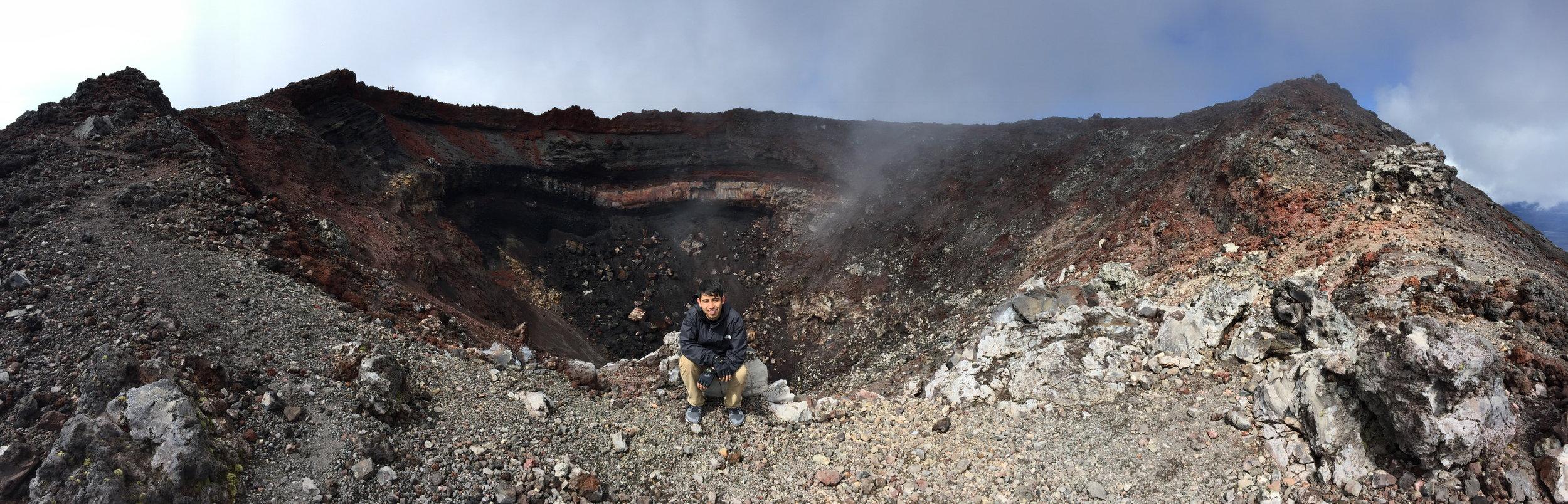 March 2017 - On top of the volcano  Mount Ngauruhoe in  New Zealand