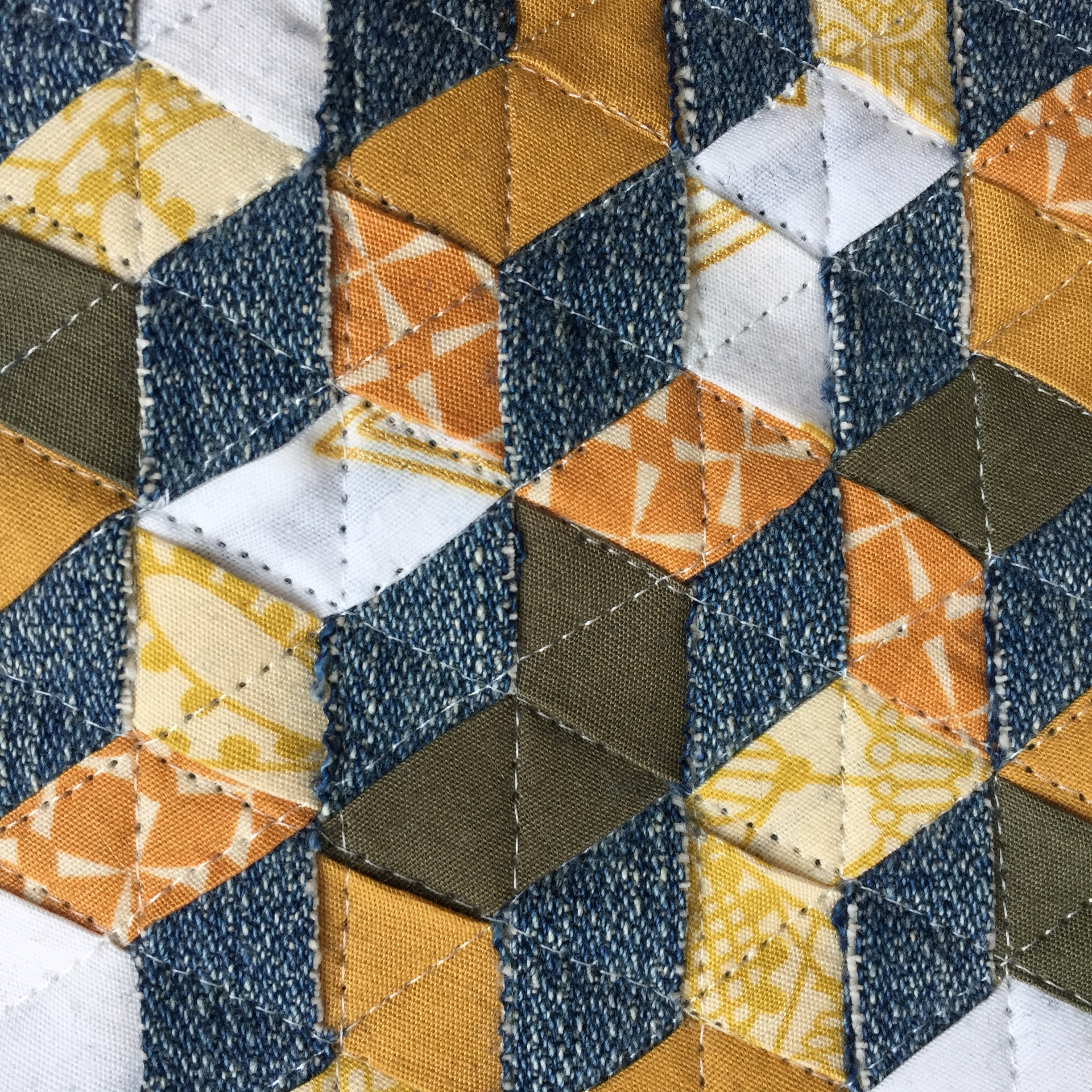 Quilting on the weave with Wonderfil InvisiFil Thread