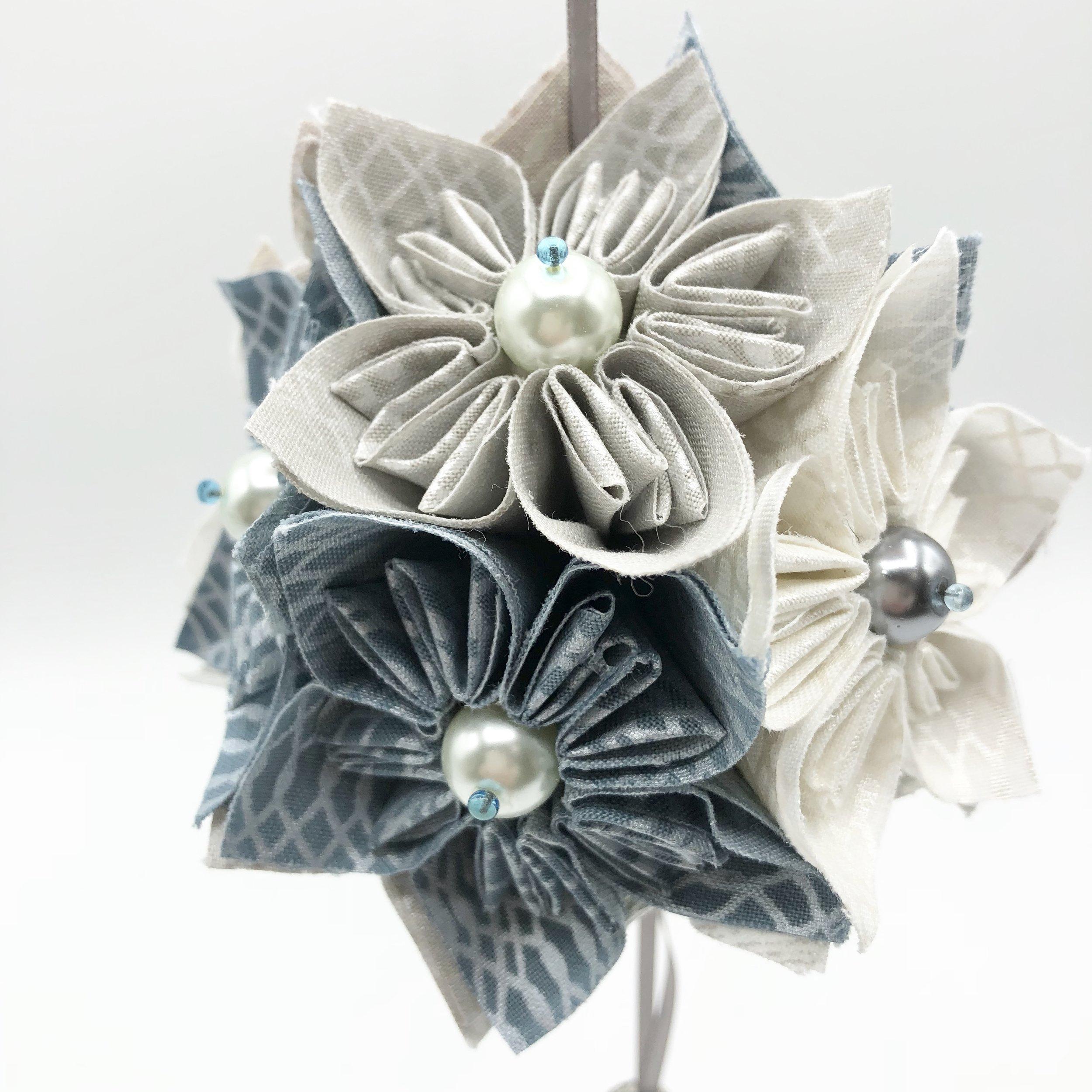 Fabric Kusudama - Tutorial by WEFTY Needle
