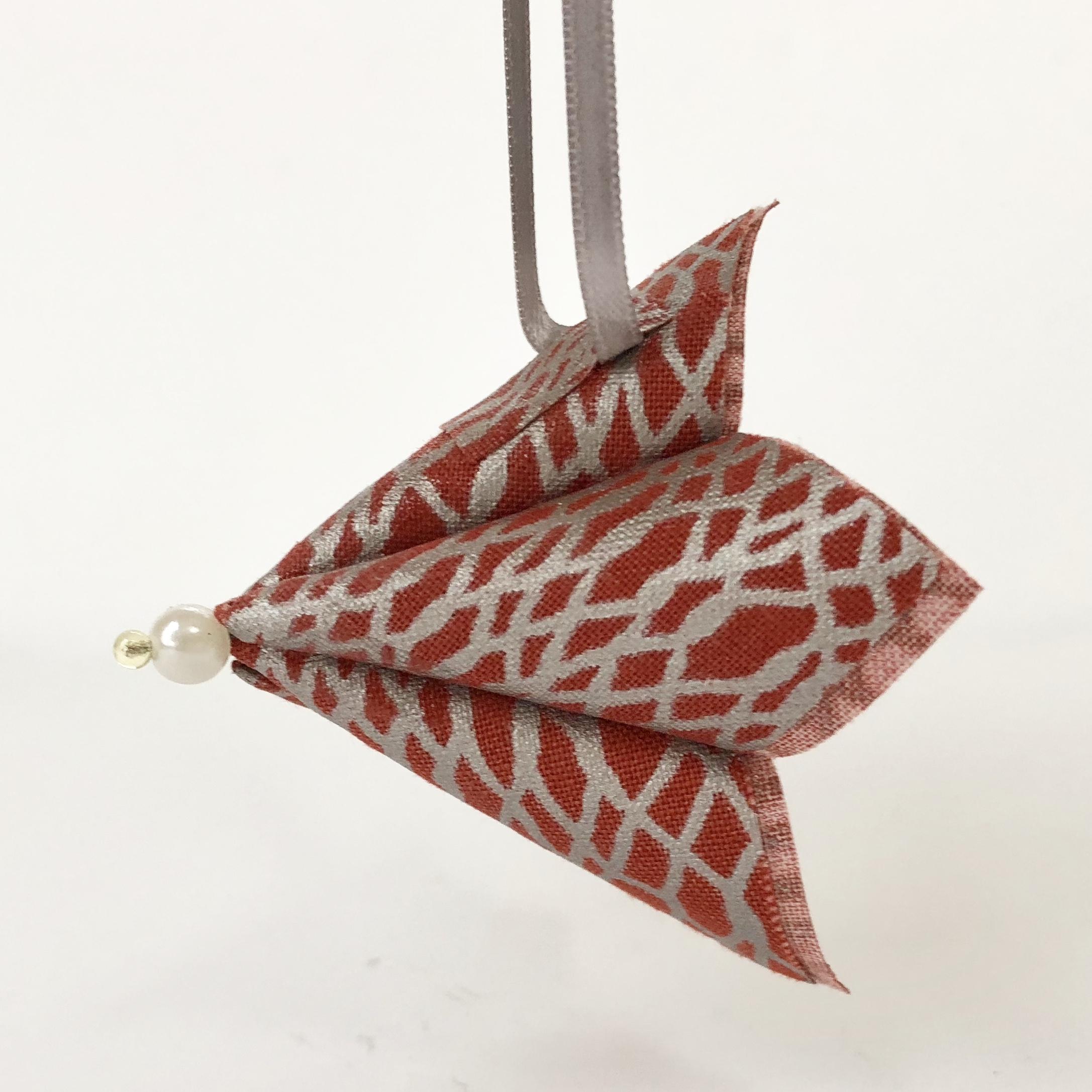 Fabric Kusudama - Single Flower Ornament by WEFTY Needle
