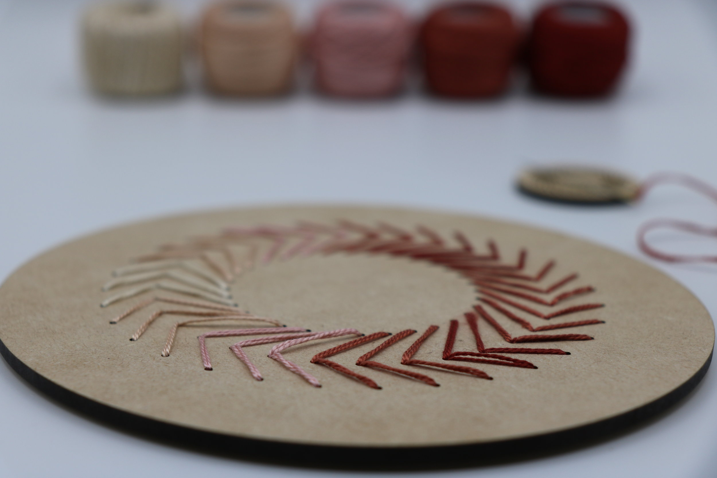 Wooden Embroidery Hoop and Needle Minder using a design from  Steph Skardal .