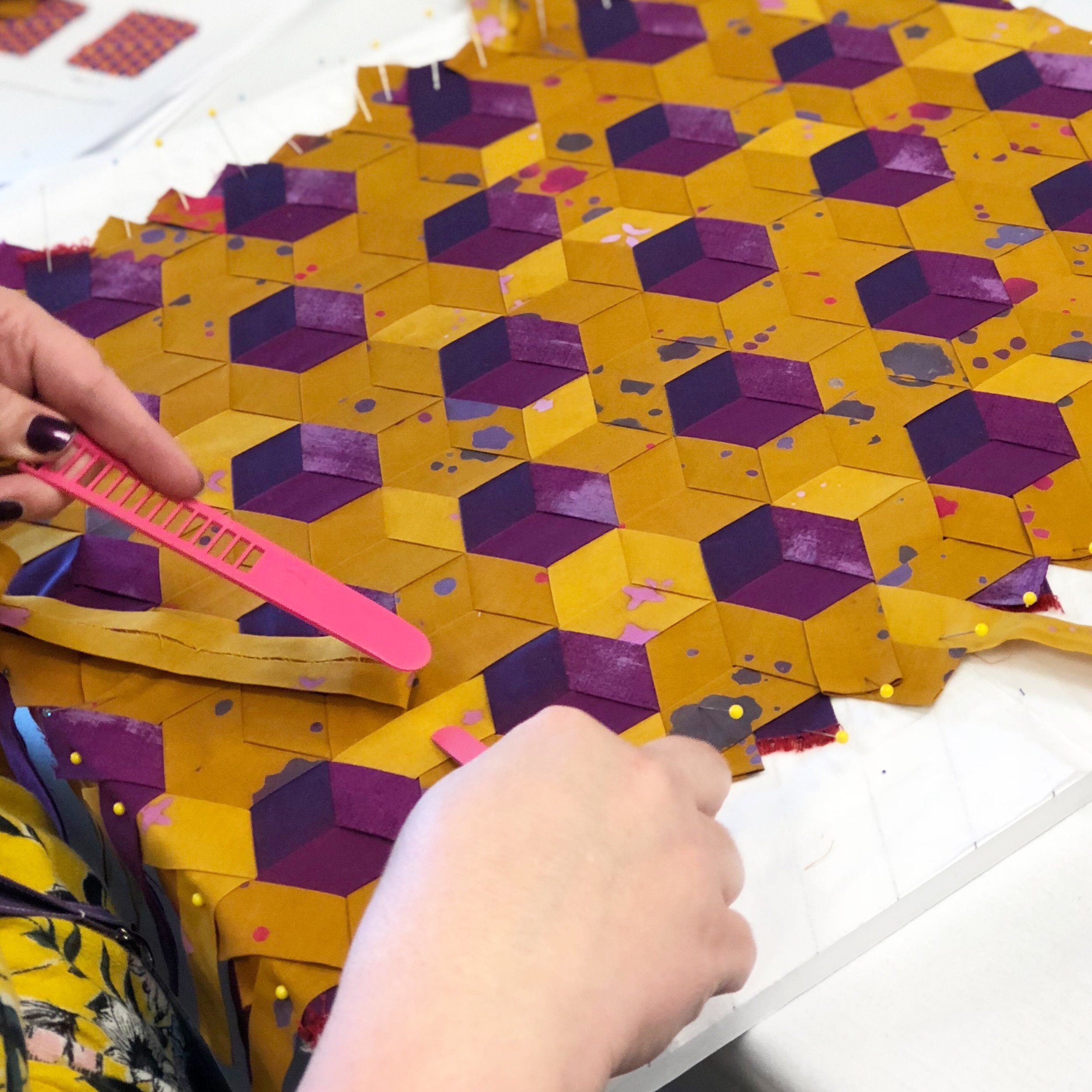 Tumbling Triplets by Amy Bradley of Purple Pineapple Studios.